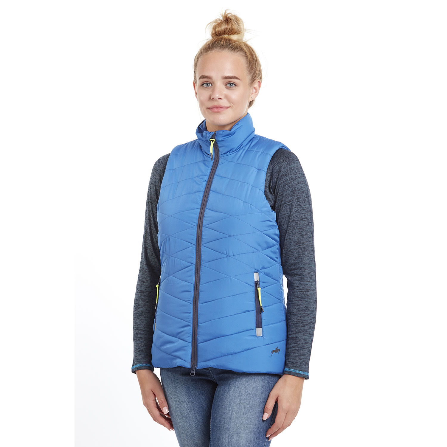 Harry Hall Womens/Ladies Sandford Padded Gilet (8 UK) (Blue)