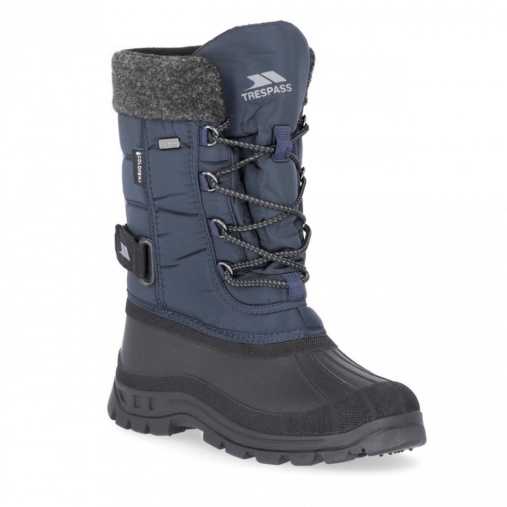 Trespass Youths Boys Strachan Snow Boots (4 Youth UK) (Navy)