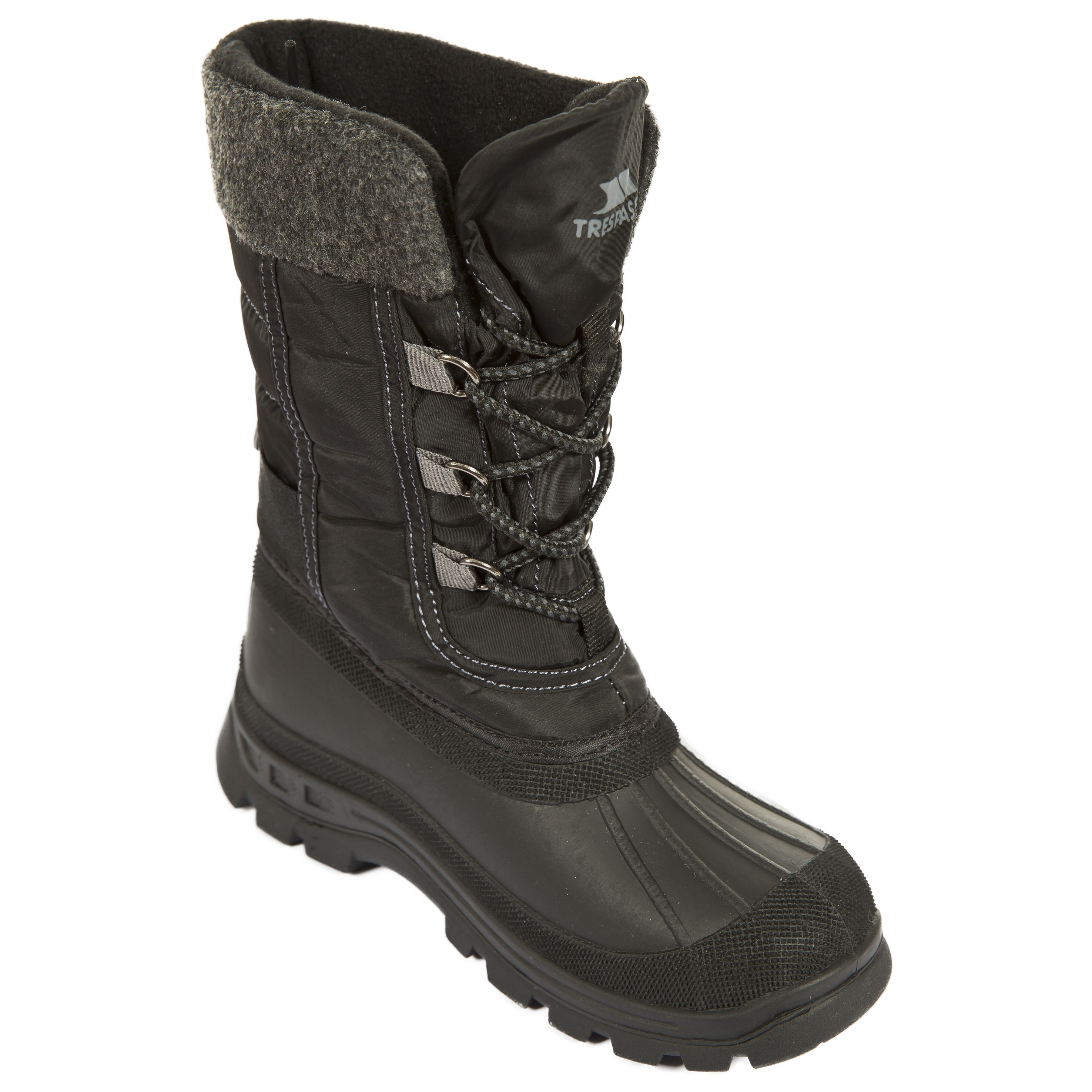 Trespass Youths Boys Strachan Snow Boots (4 Youth UK) (Black)