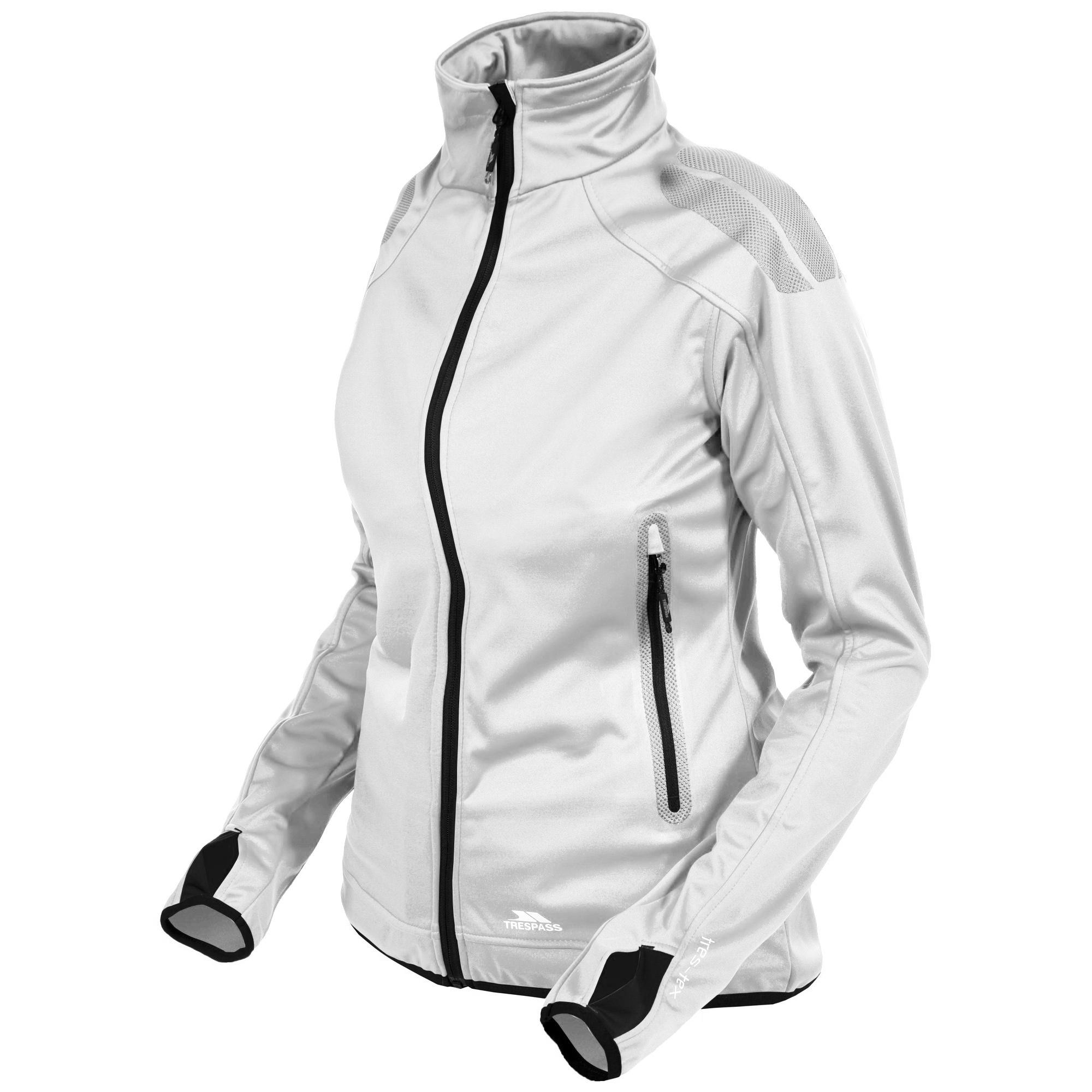 Trespass Womens/Ladies Taut Waterproof Active Jacket (S) (White)