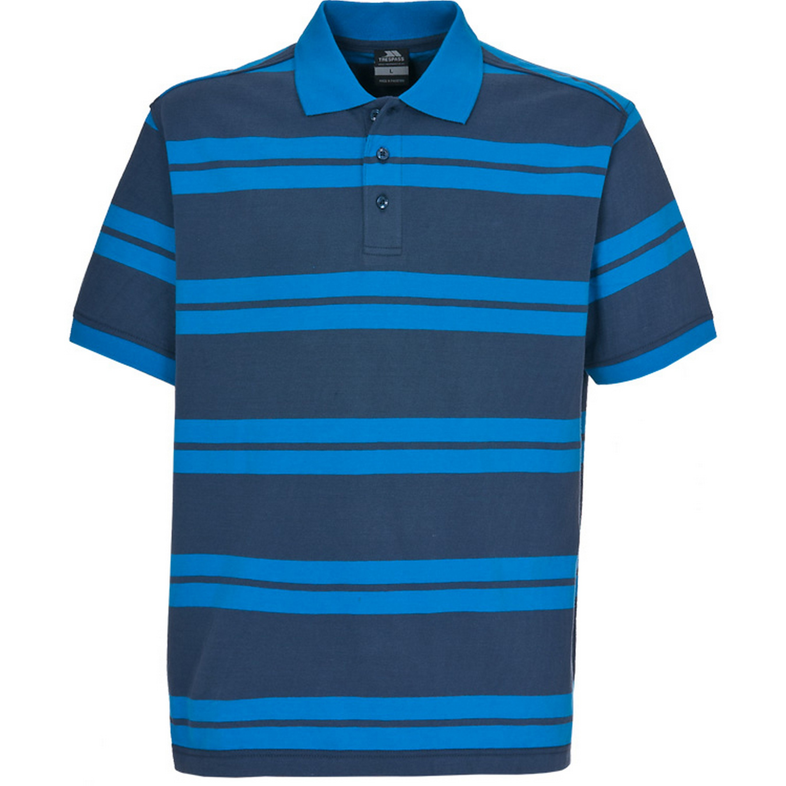 Trespass Mens Atlantika Short Sleeve Striped Polo Shirt (XXS) (Navy Tone)