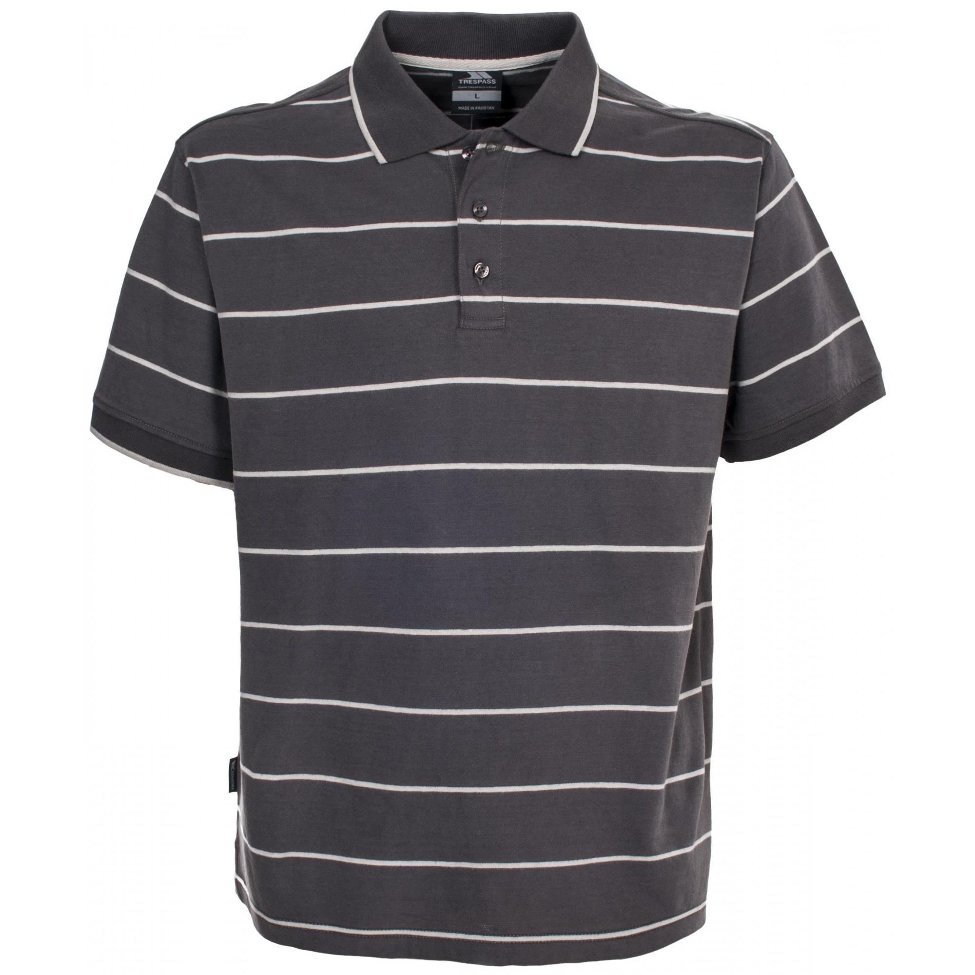 Trespass Mens Samani Short Sleeve Striped Polo Shirt (XXS) (Khaki)