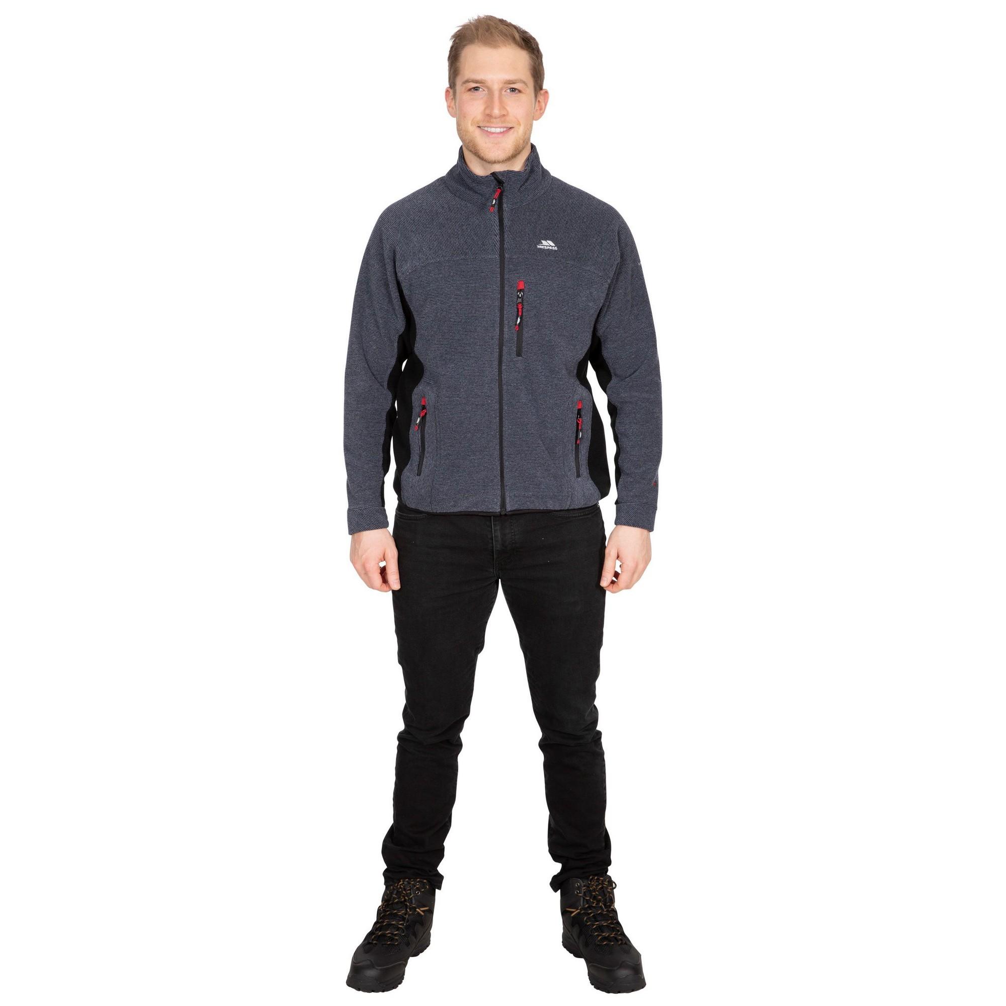 Trespass Mens Jynx Full Zip Fleece Jacket (XXS) (Navy Stripe)