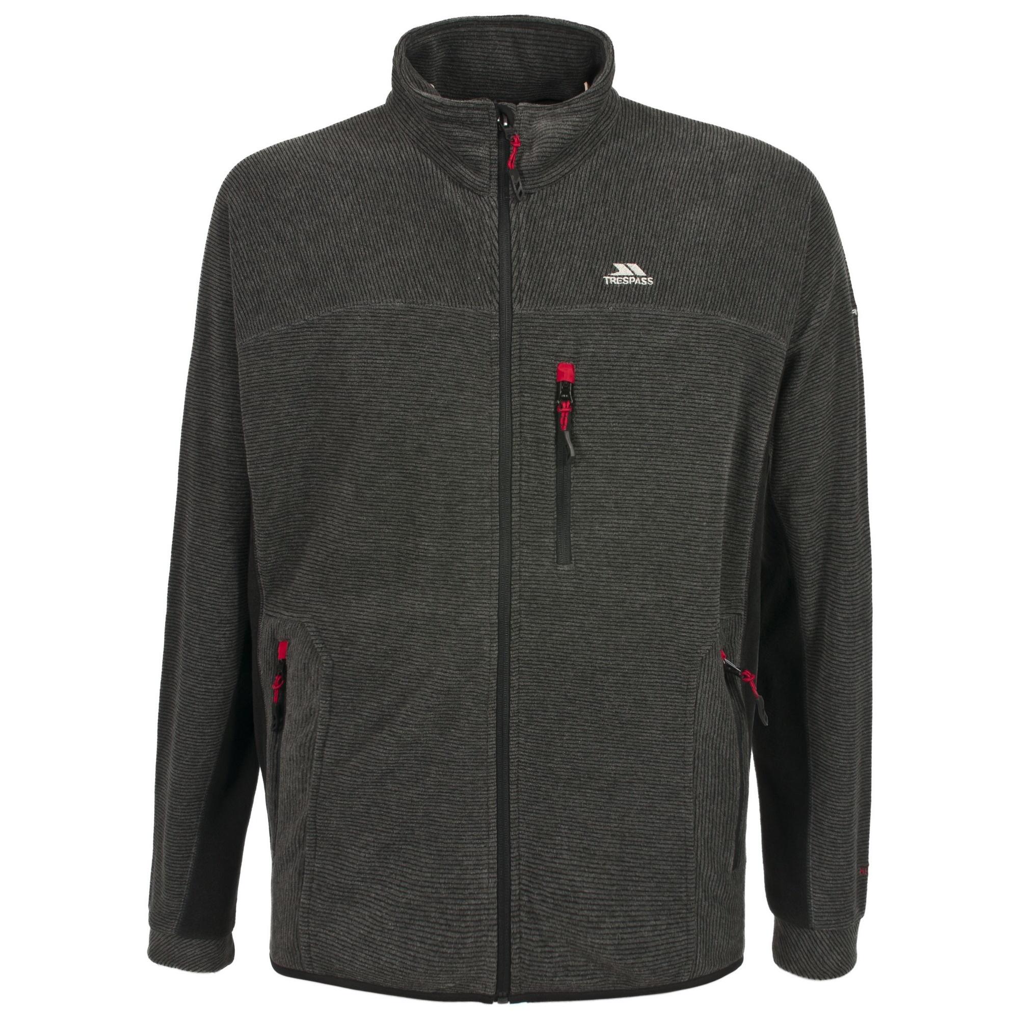 Trespass Mens Jynx Full Zip Fleece Jacket (S) (Black)