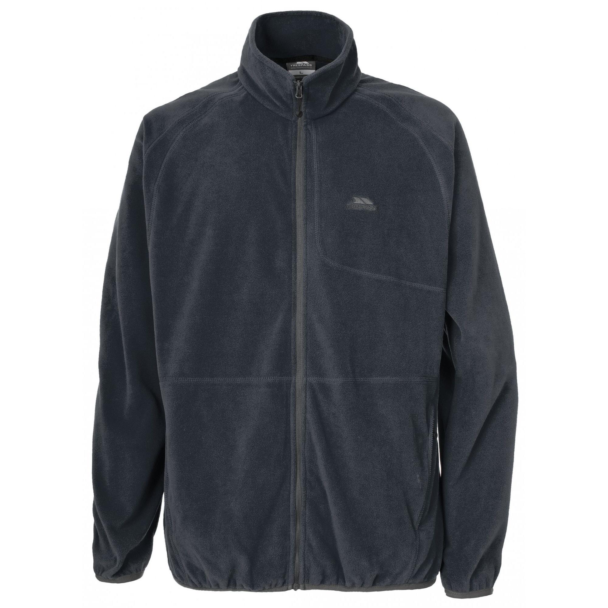 Trespass Mens Gladstone Full Zip Fleece Jacket (M) (Flint)