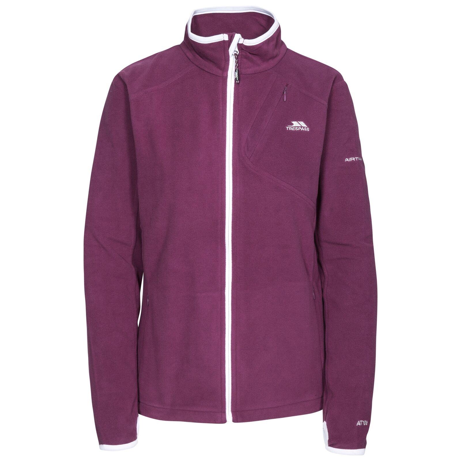 Trespass Womens/Ladies Saskia Full Zip Fleece Jacket (XXS) (Blackberry)