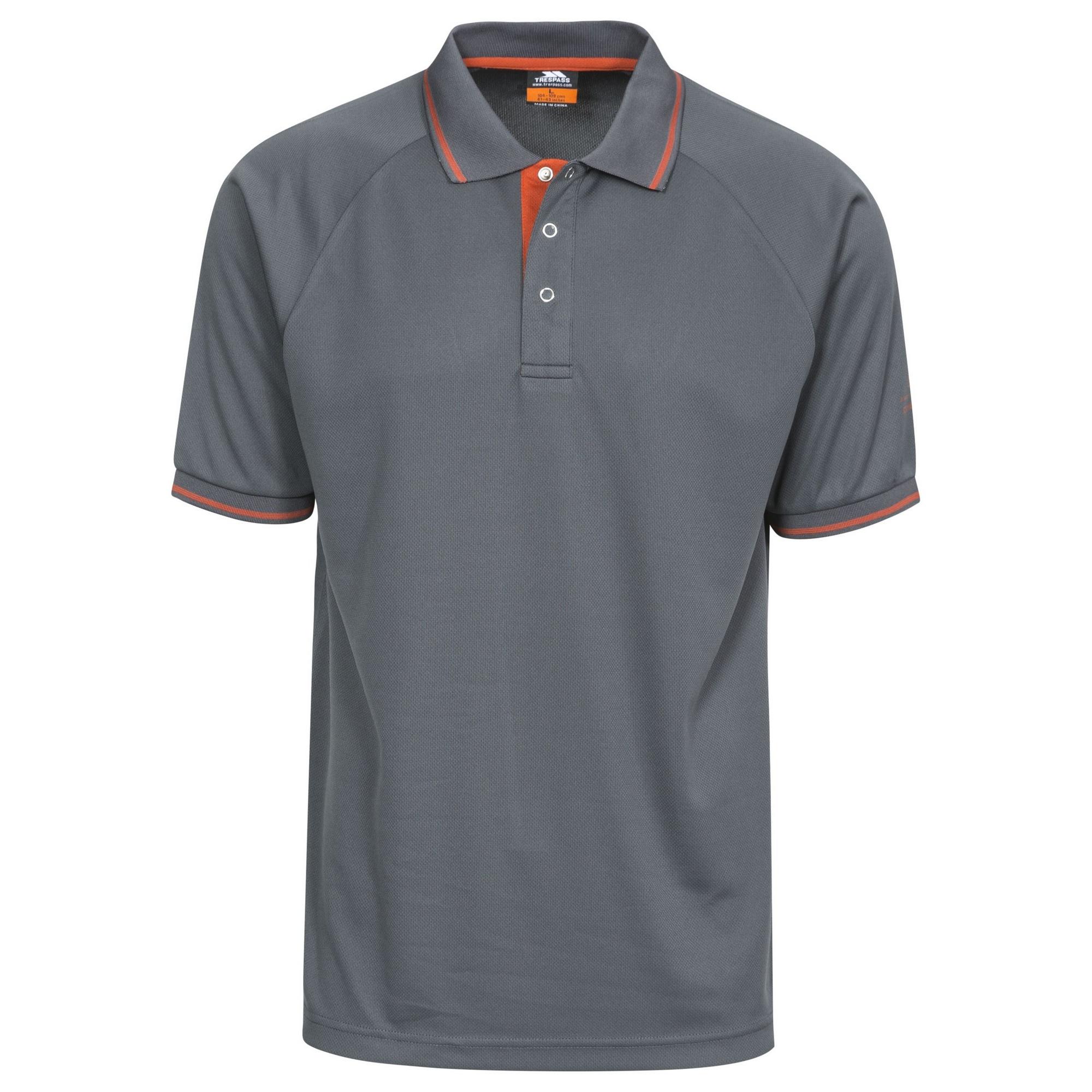 Trespass-Bonington-Polo-sport-a-manches-courtes-Homme-TP2931 miniature 9