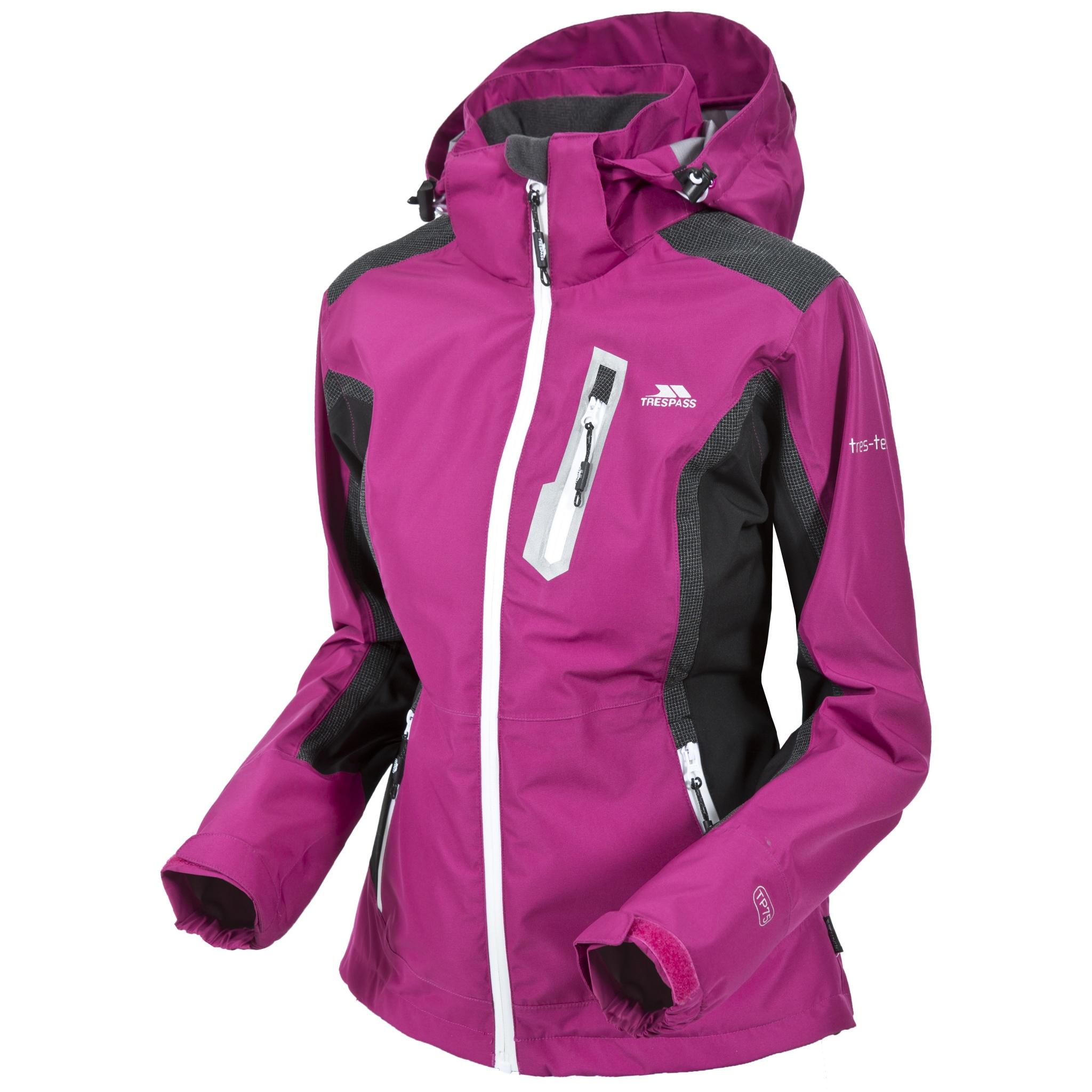 Trespass Womens/Ladies Amara Waterproof Outdoor Jacket With Detachable Hood (M) (Azalea)