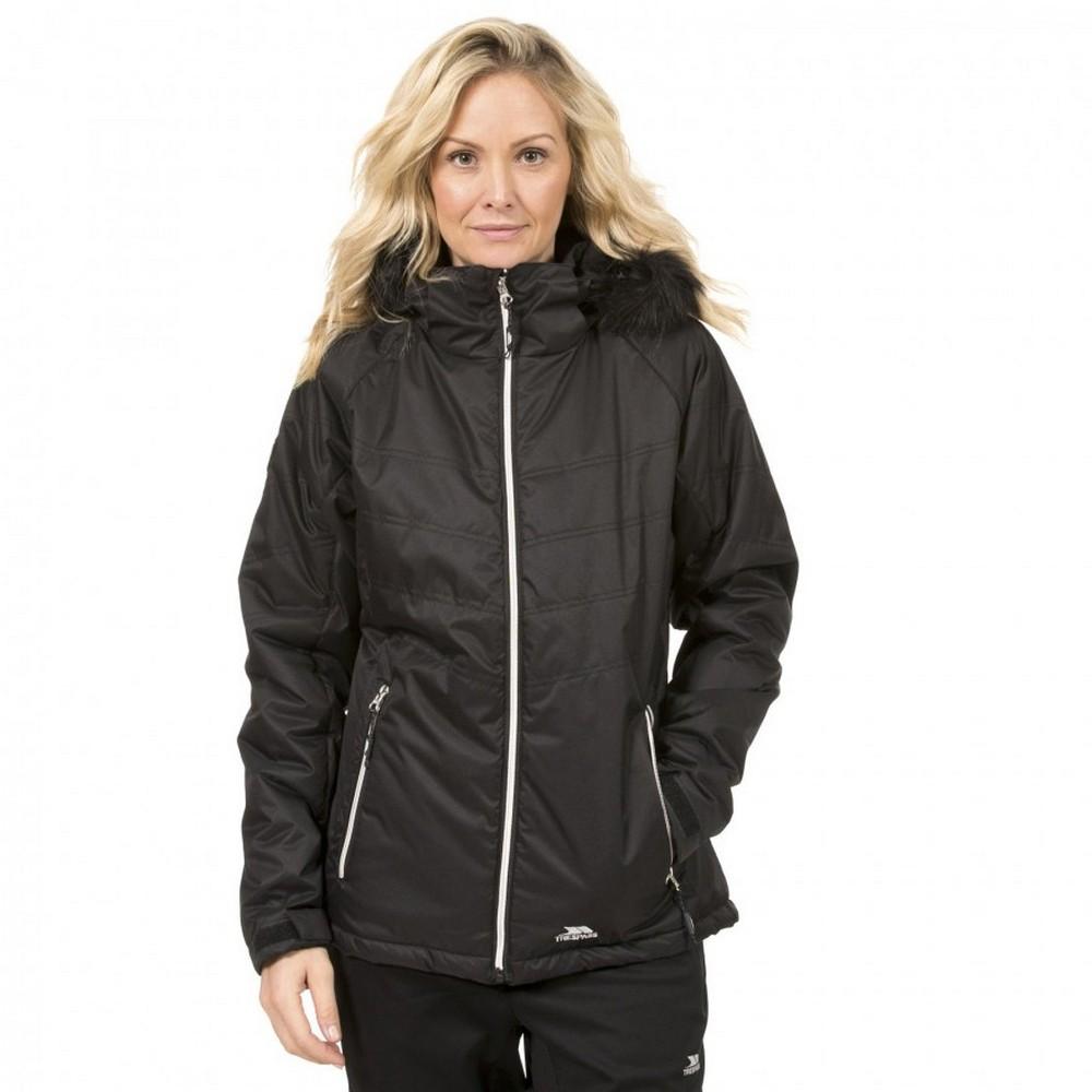Trespass Womens/Ladies Jolie Water Resistant Faux Fur Trim Jacket (XS) (Black)