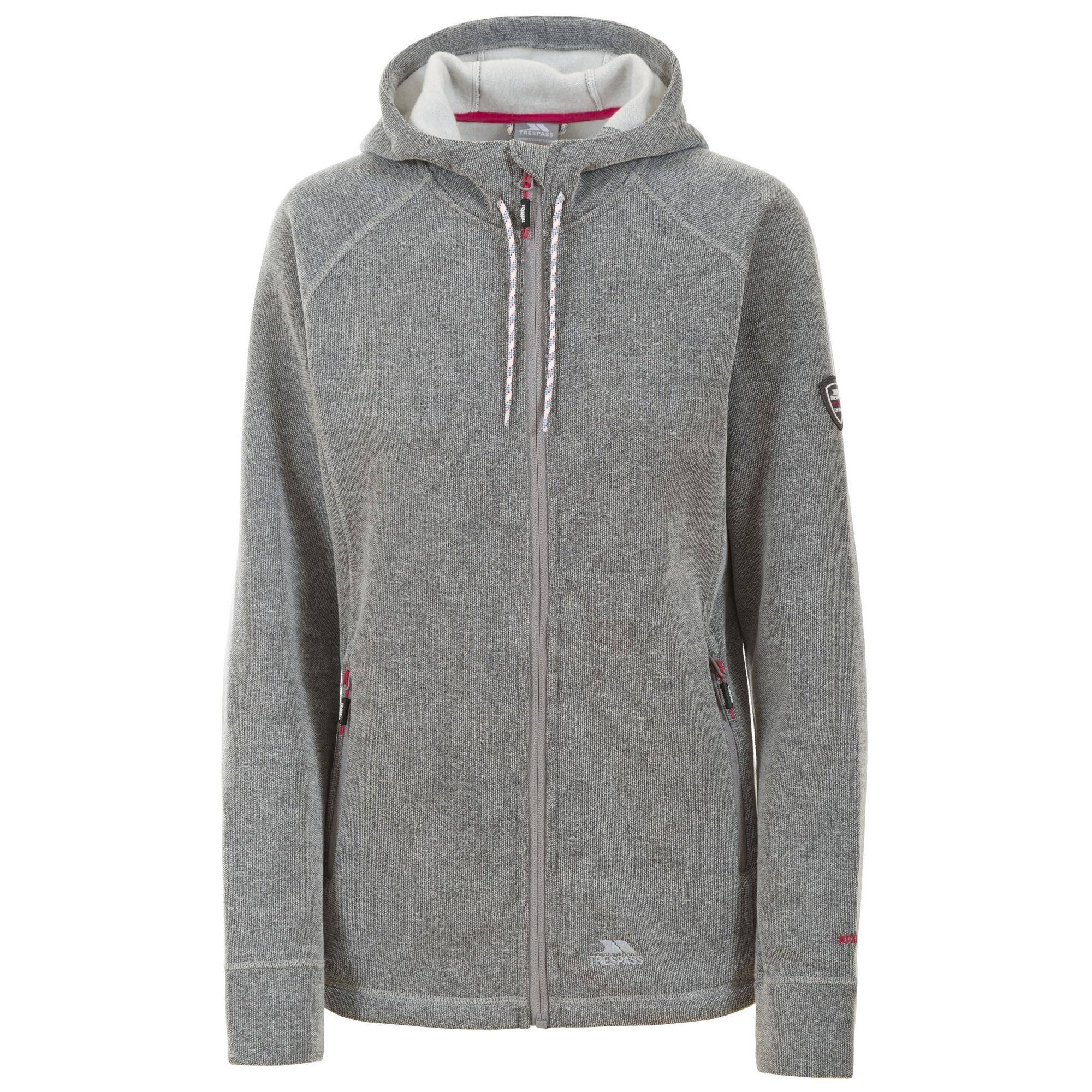 Trespass Womens/Ladies Whirlwind Full Zip Hooded Fleece Jacket (XS) (Grey Marl)