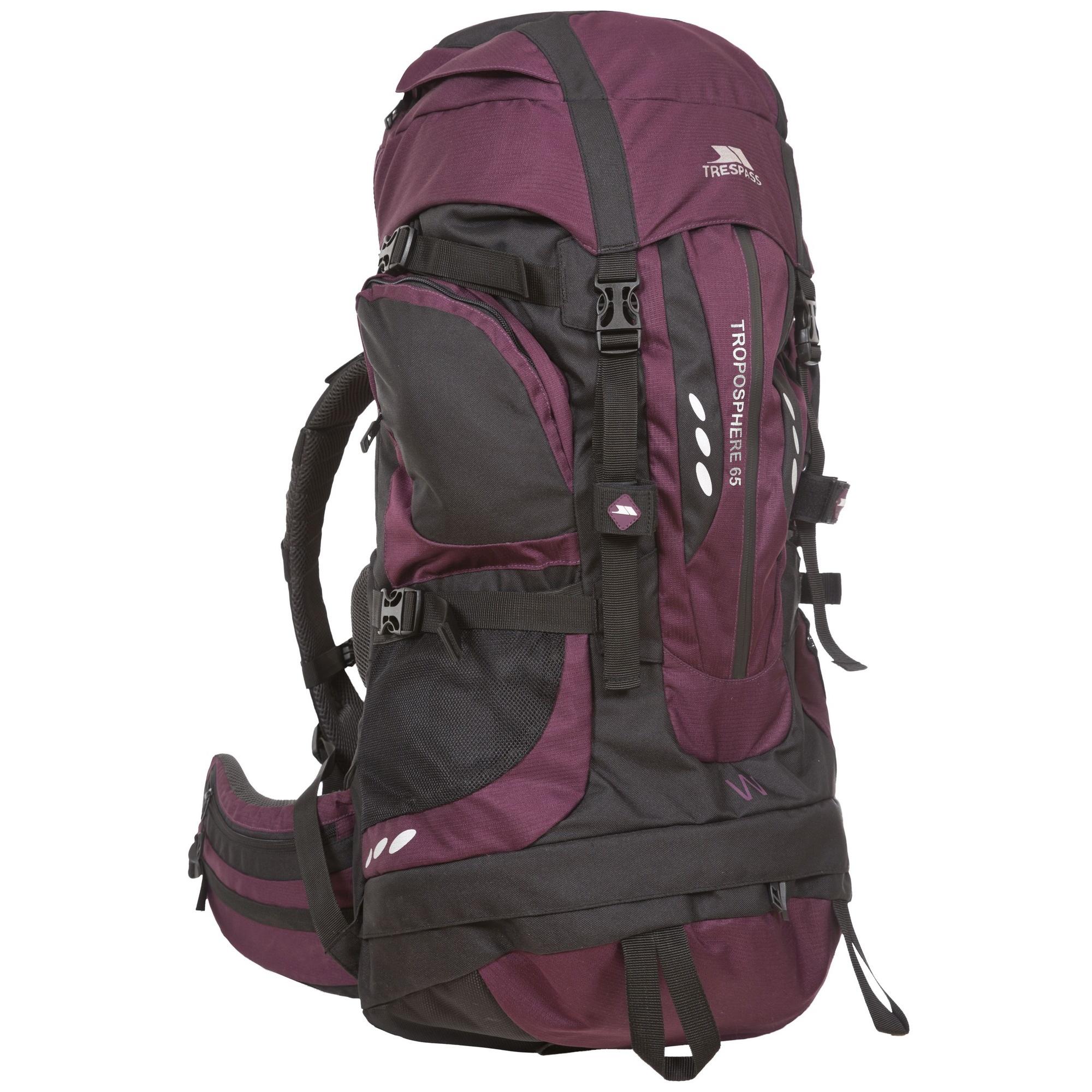Womensladies 65 Liters Troposphere Trespass Hiking Backpack 4xqd4SB
