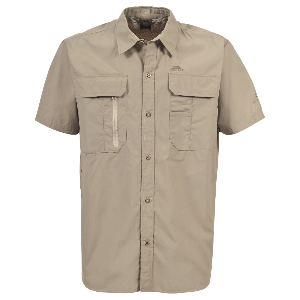 Trespass Mens Colly Short Sleeve Quick Dry Shirt (XS) (Bamboo)