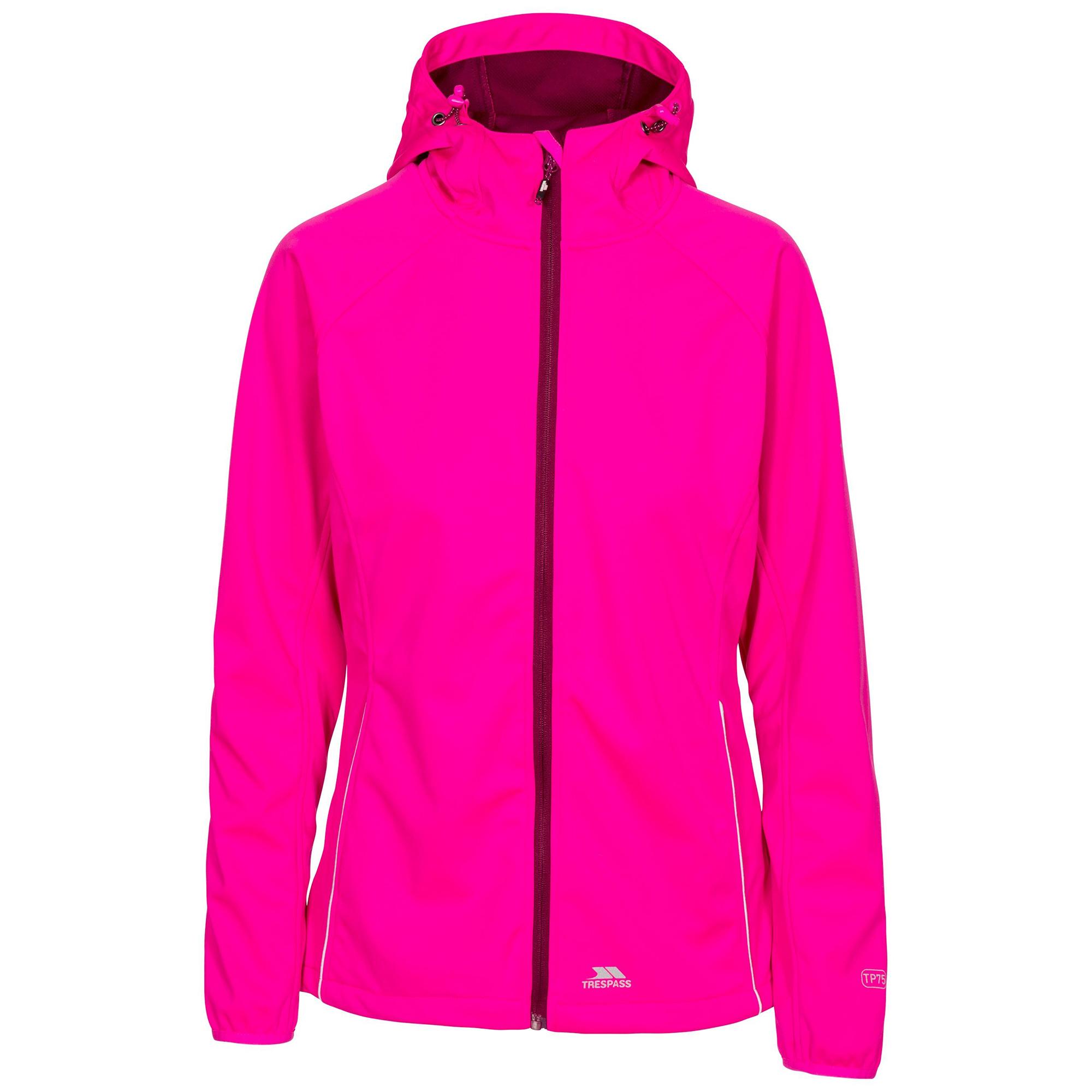 Trespass Womens/Ladies Sisely Waterpoof Softshell Jacket (S) (Pink Glow)