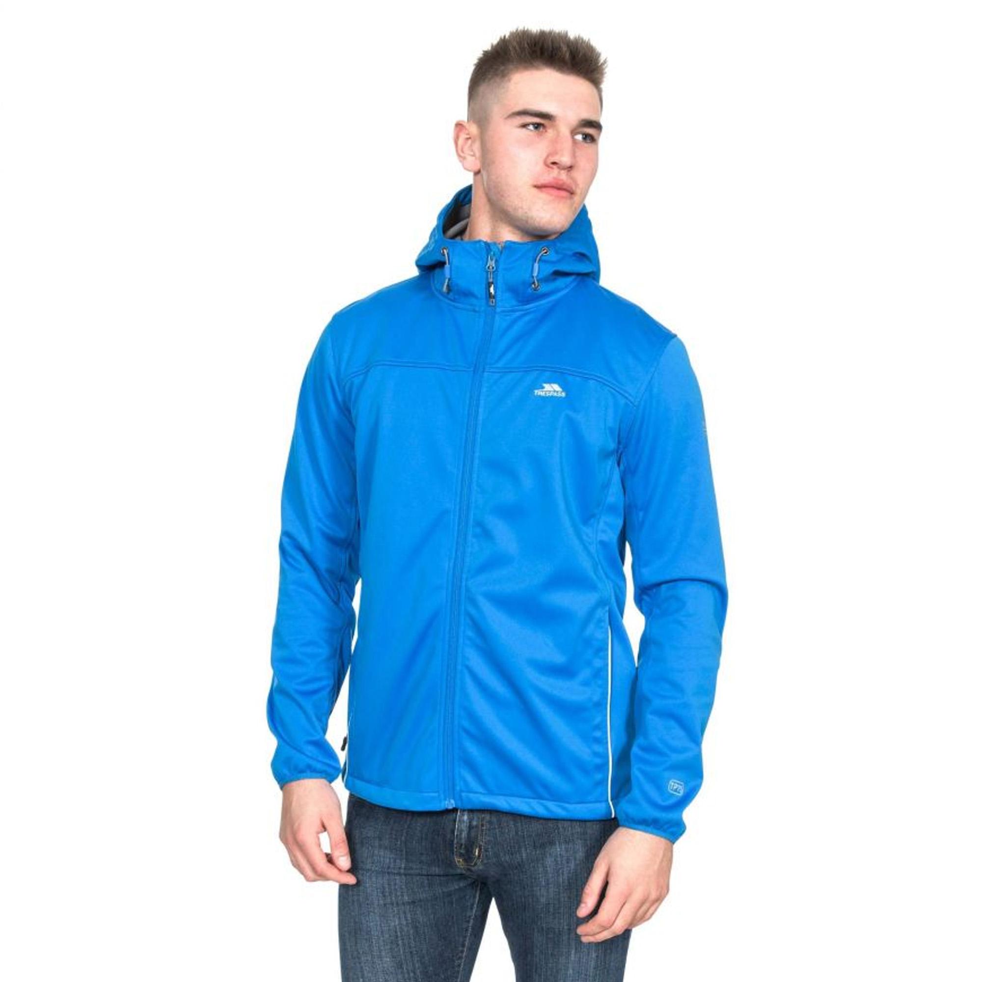 Trespass Mens Zeek Waterproof Softshell Jacket (S) (Red)