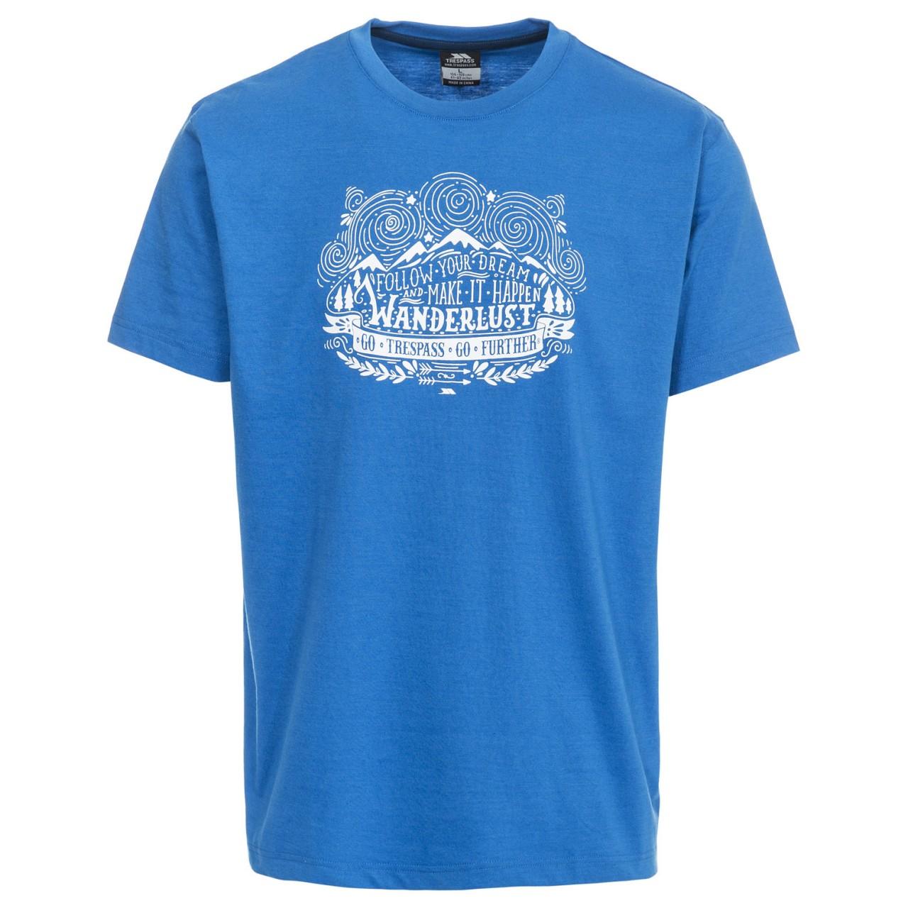 Trespass Mens Hainey Short Sleeve T-Shirt (S) (Bright Blue)