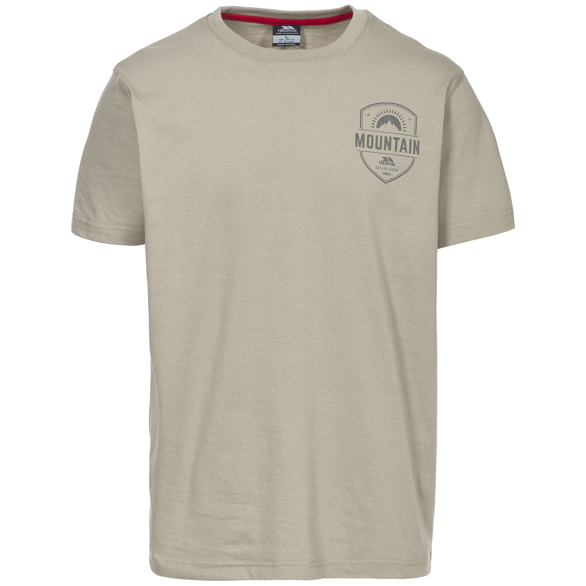 Trespass Mens Rawhider Casual Short Sleeve T-Shirt (XS) (Oatmeal)