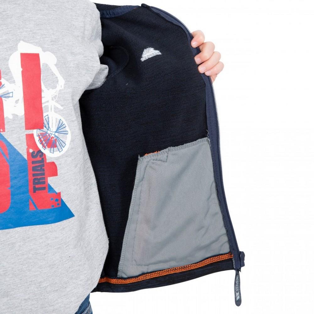 Trespass Childrens Boys Shaw Full Zip Hooded Fleece Jacket