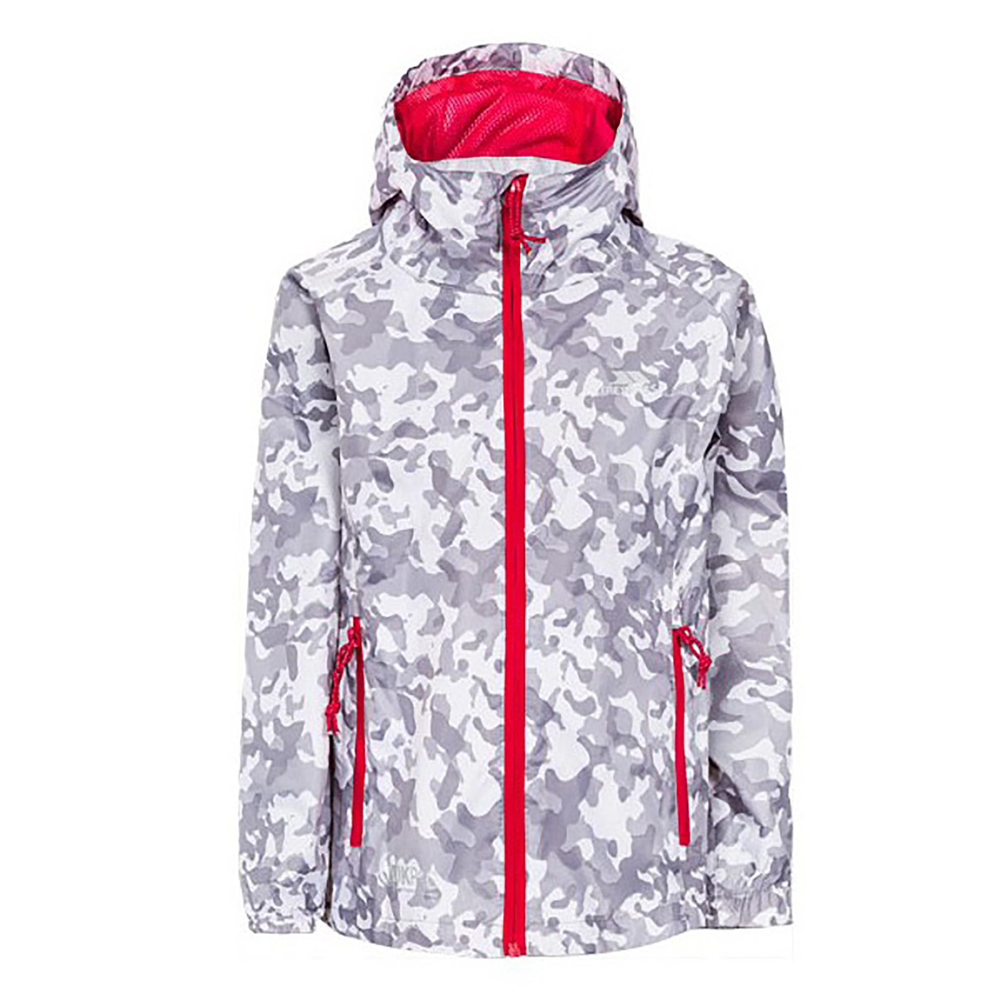 Trespass Childrens/Kids Qikpac Waterproof Packaway Printed Jacket (5-6 Years) (White Camo)