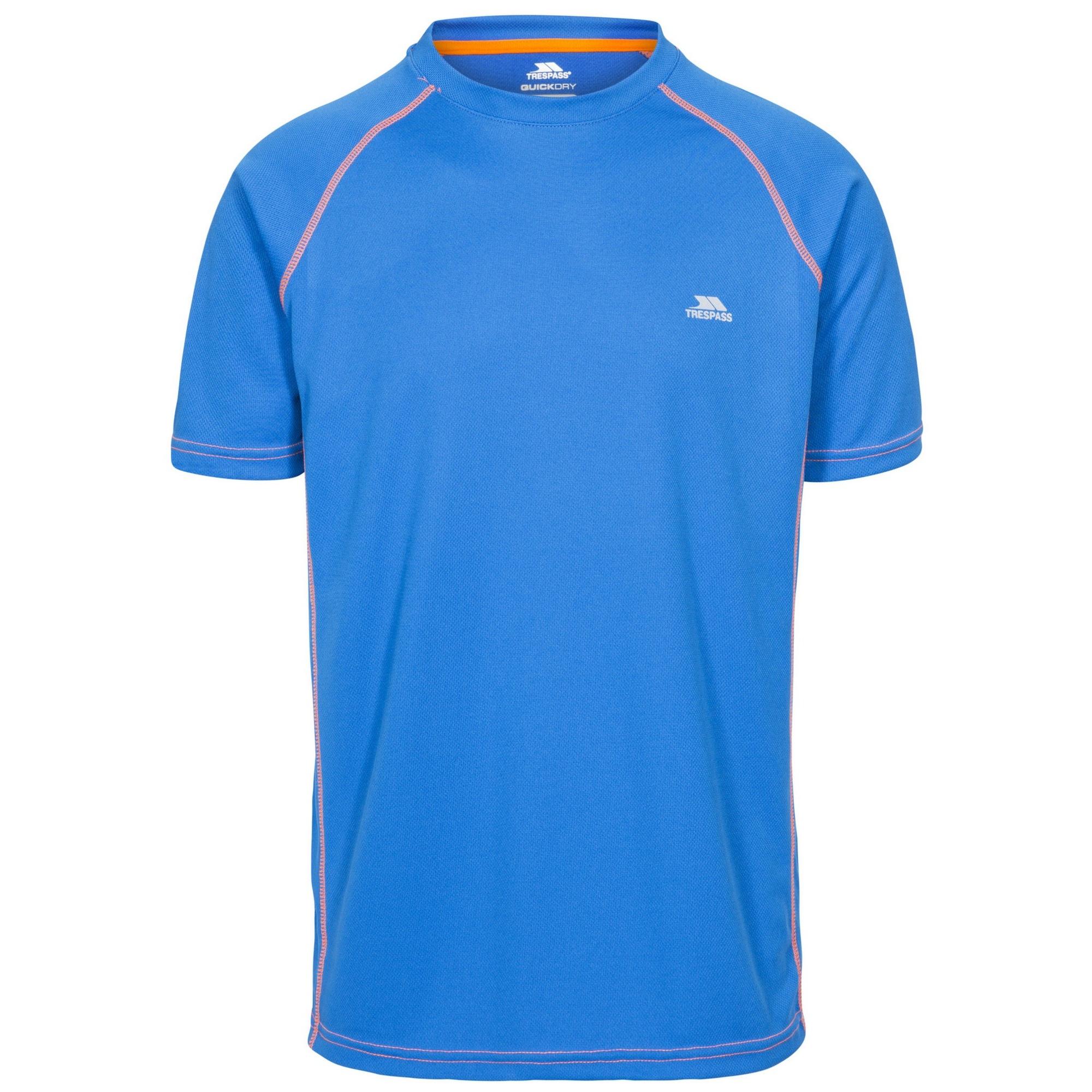 Trespass Mens Ethen Short Sleeve Active T-Shirt (XXS) (Vibrant Blue)