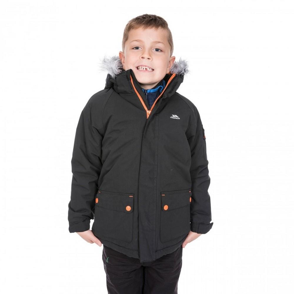 Trespass Childrens Boys Holsey Waterproof Parka Jacket (5-6 Years) (Black)