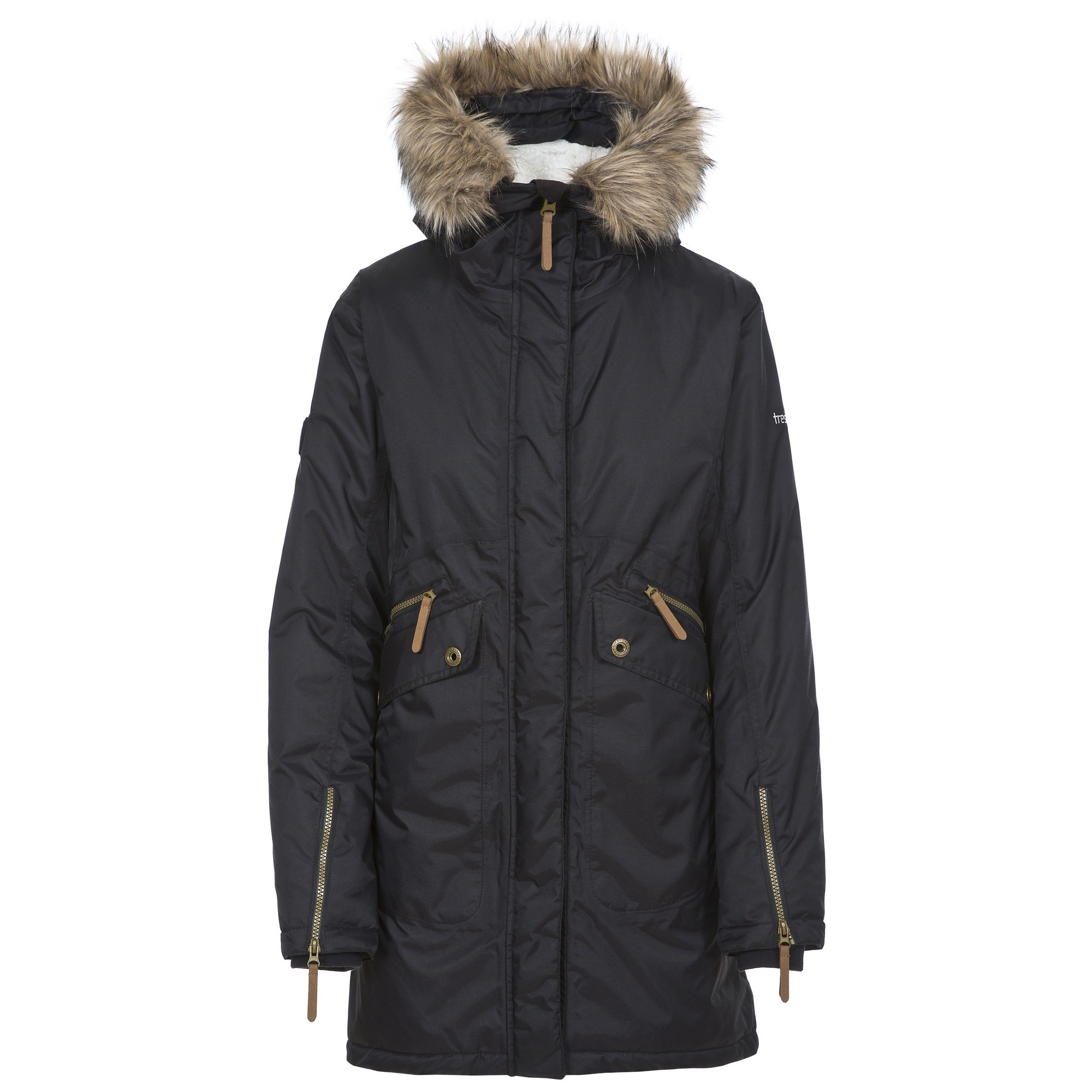 Trespass Womens/Ladies Eternally Waterproof Parka Jacket (XS) (Black)