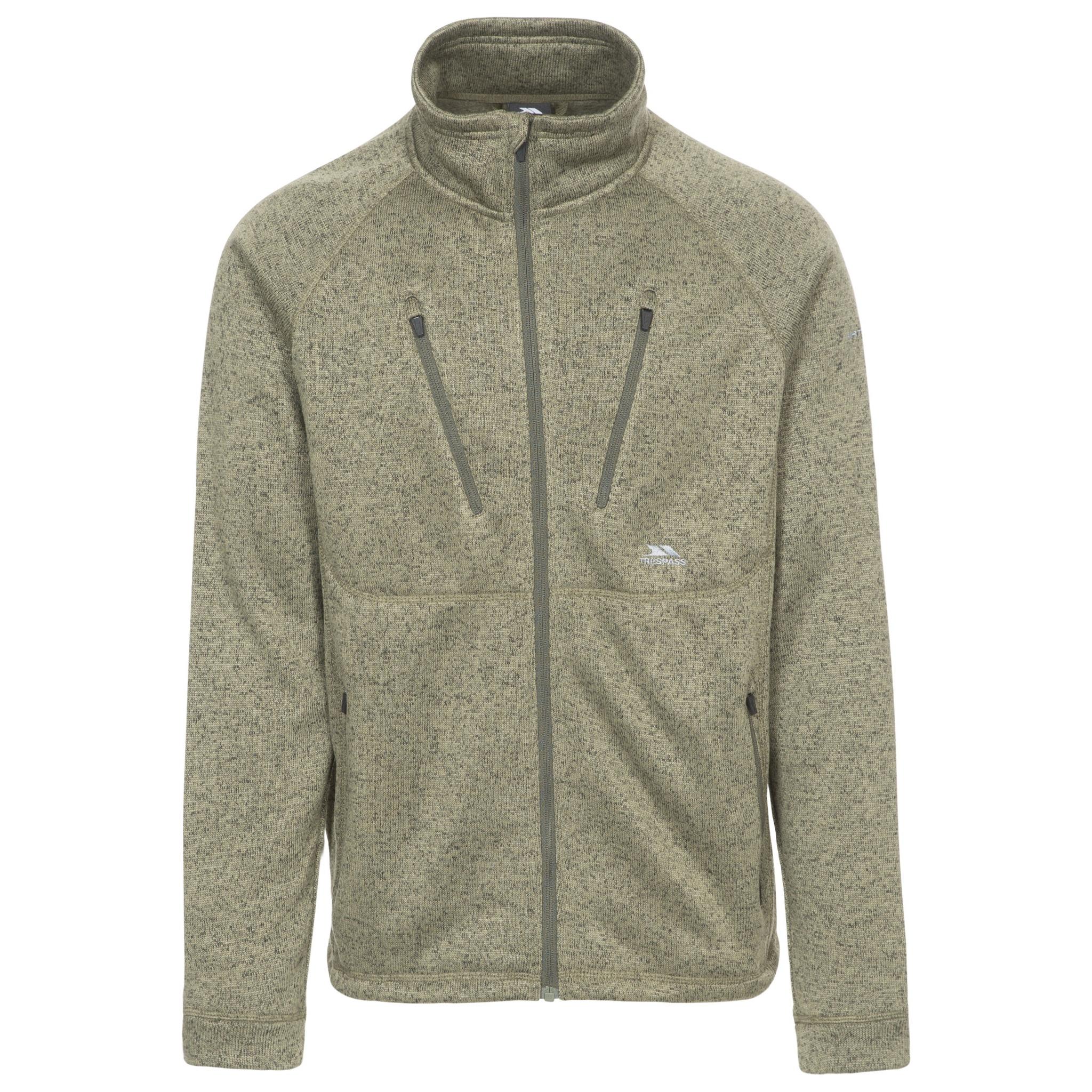 Trespass Mens Ramp Full Zip Fleece Jacket (S) (Moss Marl)