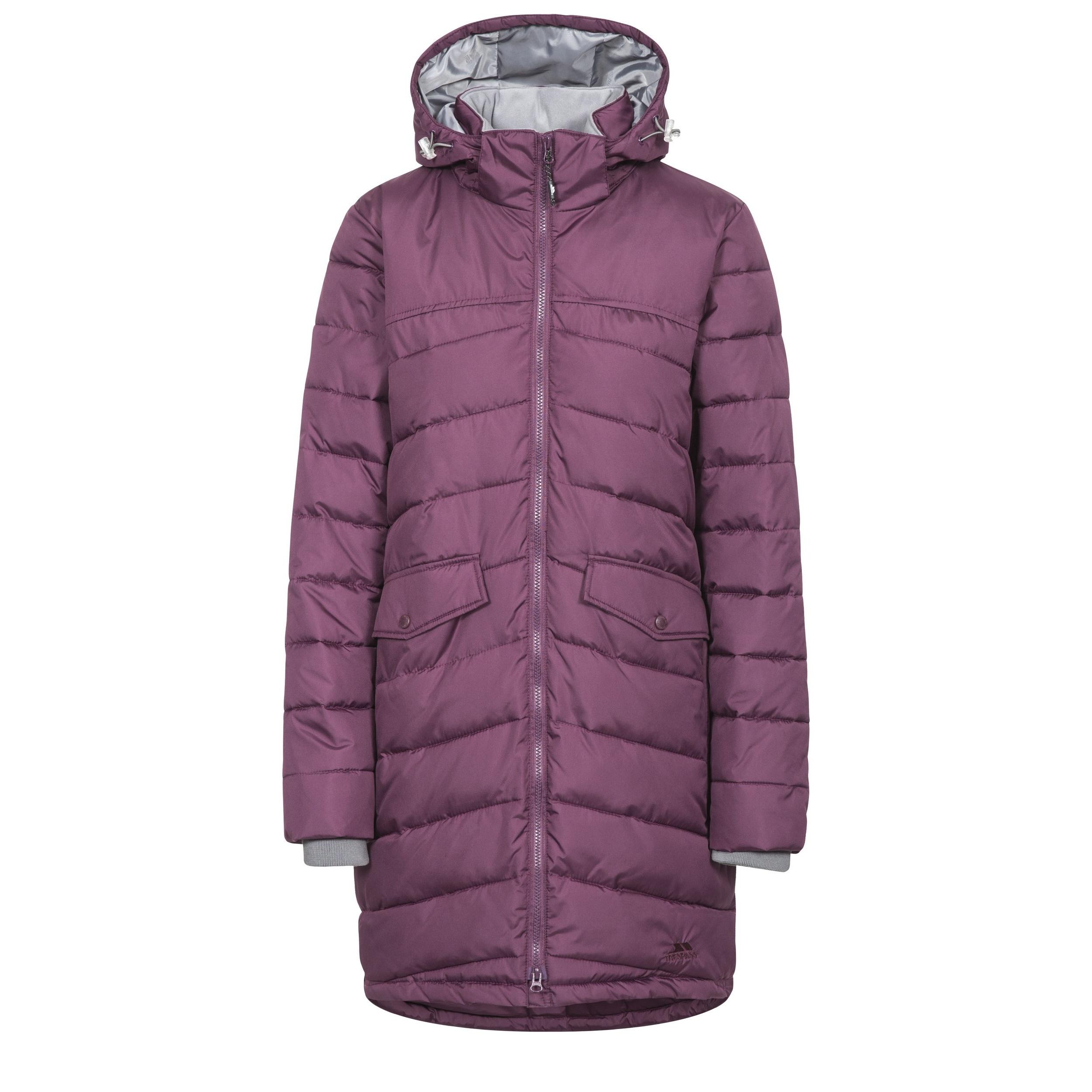 Trespass Womens/Ladies Homely Padded Jacket (XXS) (Blackberry)