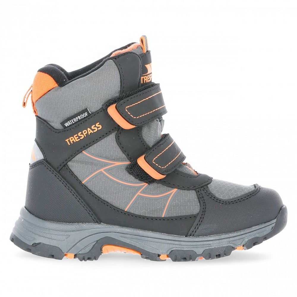 Trespass-Childrens-Kids-Julien-Waterproof-Winter-Boots-TP3984 thumbnail 4