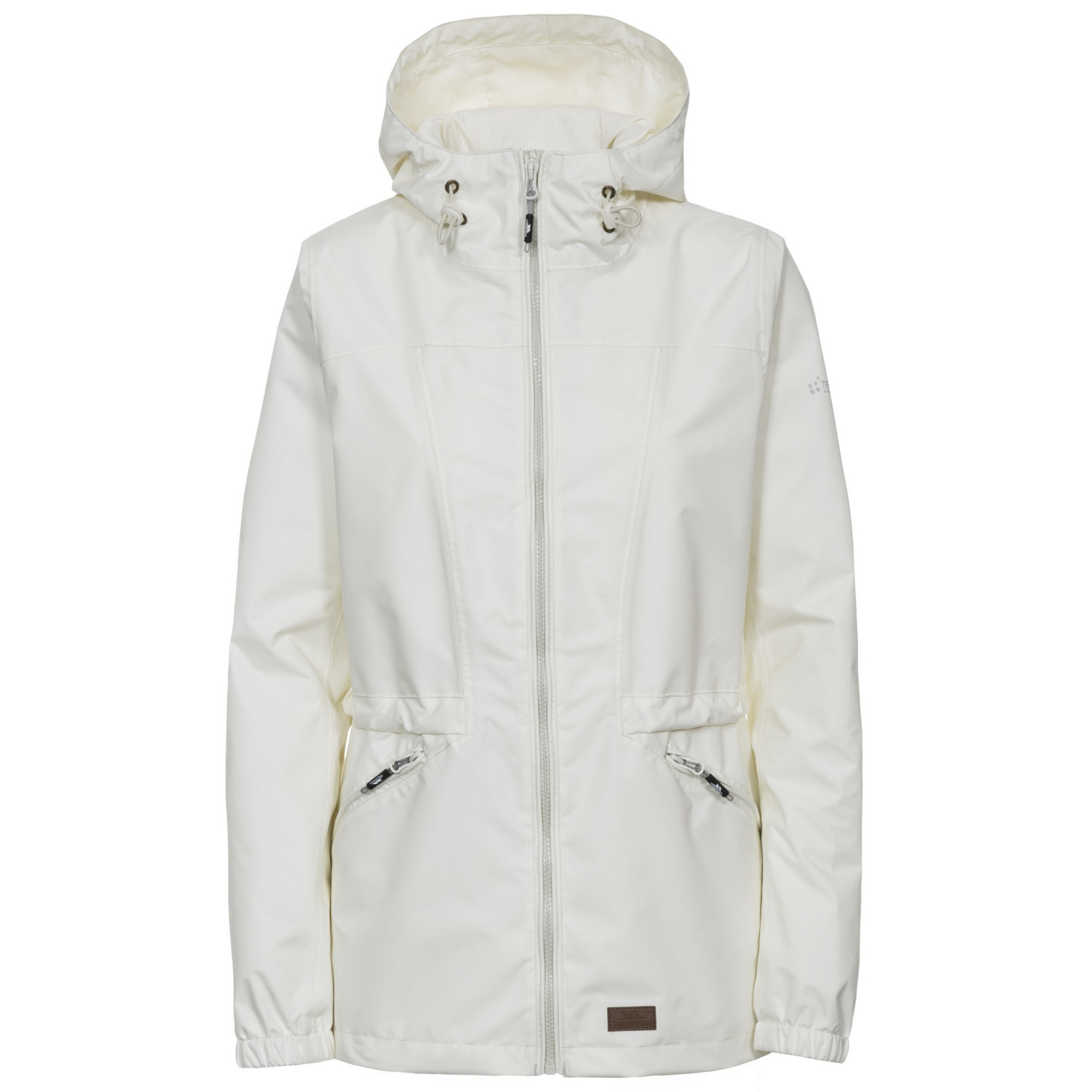 Trespass Womens/Ladies Cruella Waterproof Jacket (XXS) (Cream)