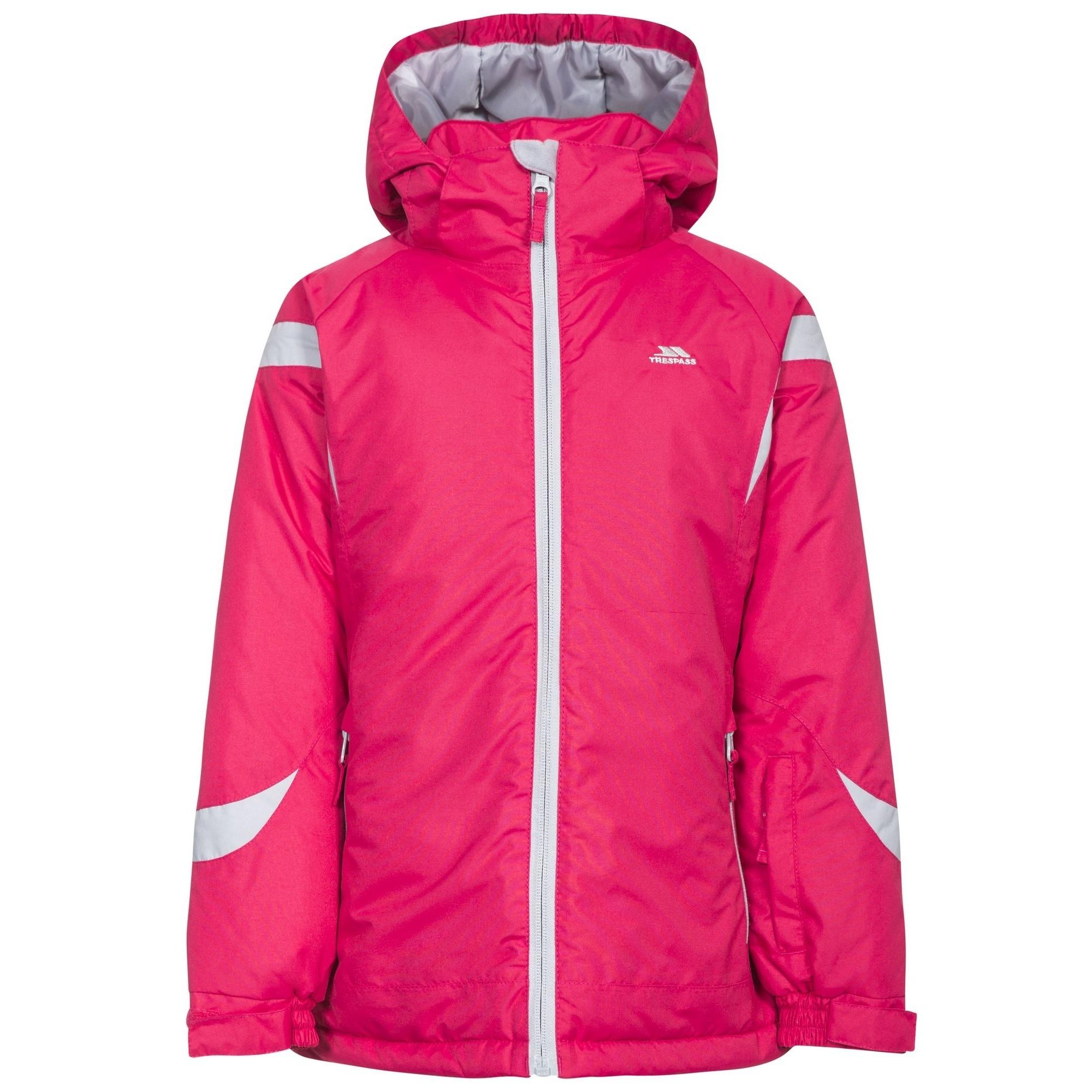 Trespass Childrens Girls Avast Waterproof Ski Jacket (5/6 Years) (Raspberry)