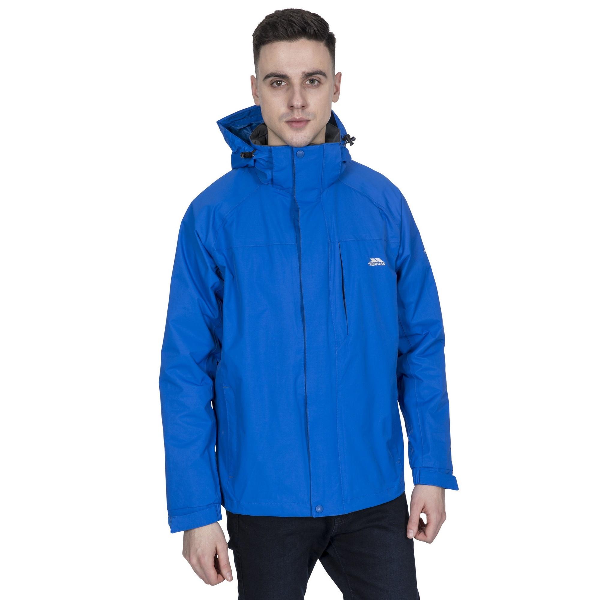 Trespass Mens Edwards II Waterproof Jacket (M) (Blue)