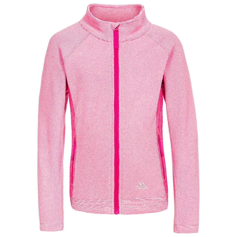 Trespass Childrens/Kids Bunker Fleece Jacket (3/4 Years) (Pink Lady Stripe)