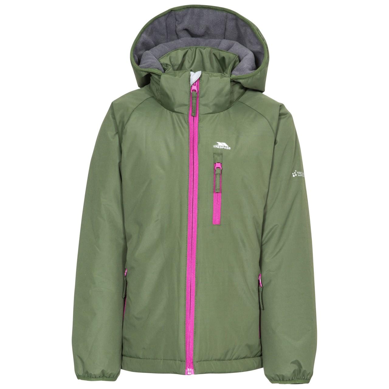 Trespass Childrens Girls Shasta Waterproof Jacket (11/12 Years) (Moss)