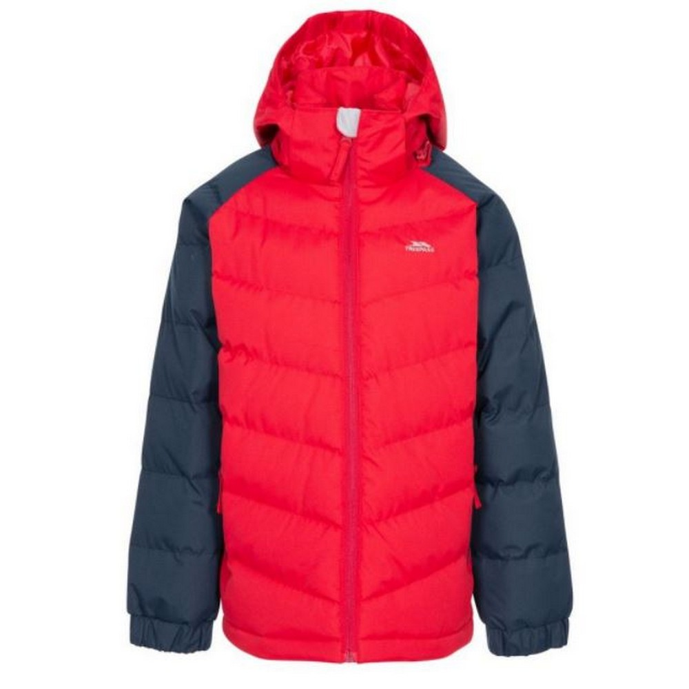Trespass Childrens Boys Sidespin Waterproof Padded Jacket (2/3 Years) (Red/Black)