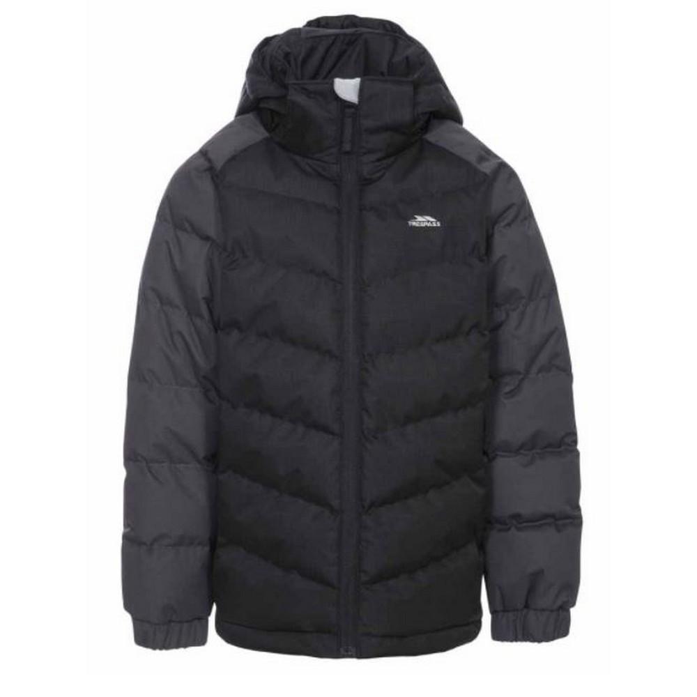 Trespass Childrens Boys Sidespin Waterproof Padded Jacket (3/4 Years) (Black)