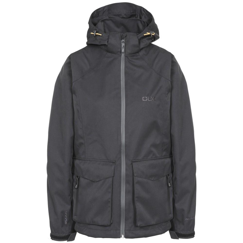 Trespass Womens/Ladies Emeson DLX Hooded Waterproof Jacket (S) (Black)