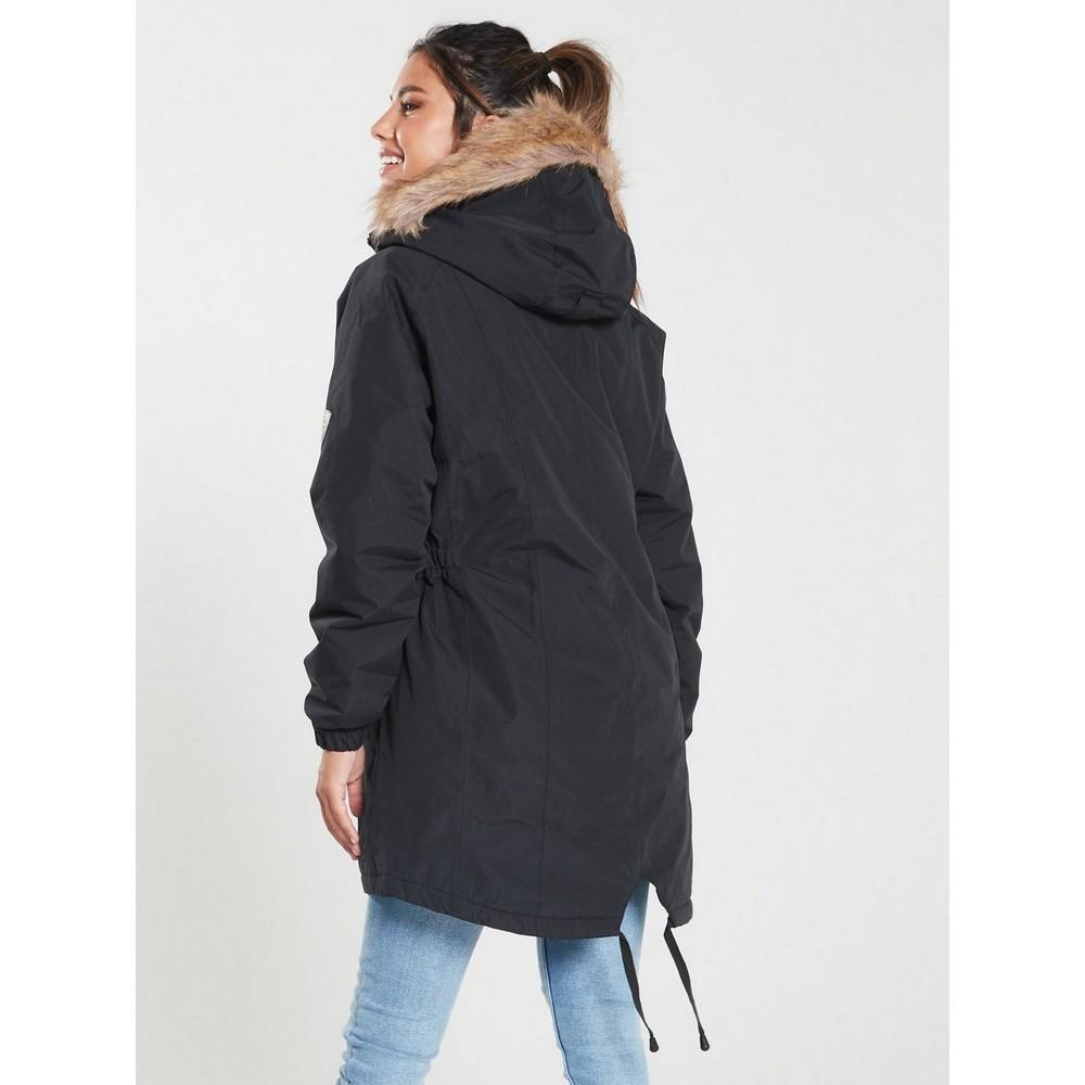 Trespass Womens/Ladies Celebrity Insulated Longer Length Parka Jacket (L) (Potent Purple)