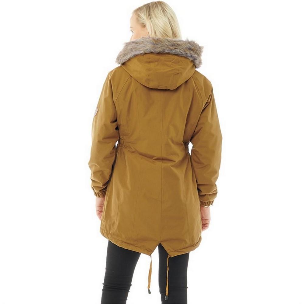 Trespass Womens/Ladies Celebrity Insulated Longer Length Parka Jacket (XS) (Moss)