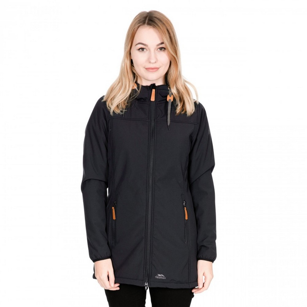 Trespass-Womens-Ladies-Kristen-Longer-Length-Hooded-Waterproof-Jacket-TP4195 thumbnail 4