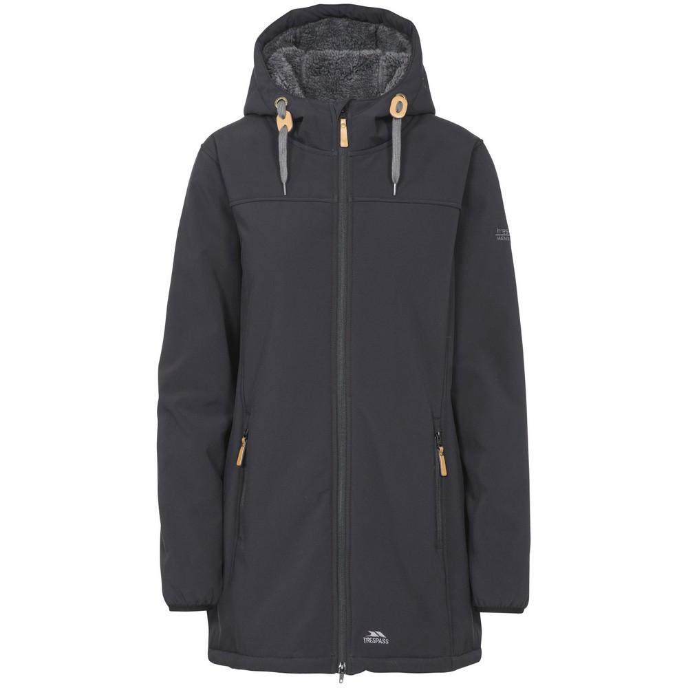 Trespass Womens/Ladies Kristen Longer Length Hooded Waterproof Jacket (XS) (Black)