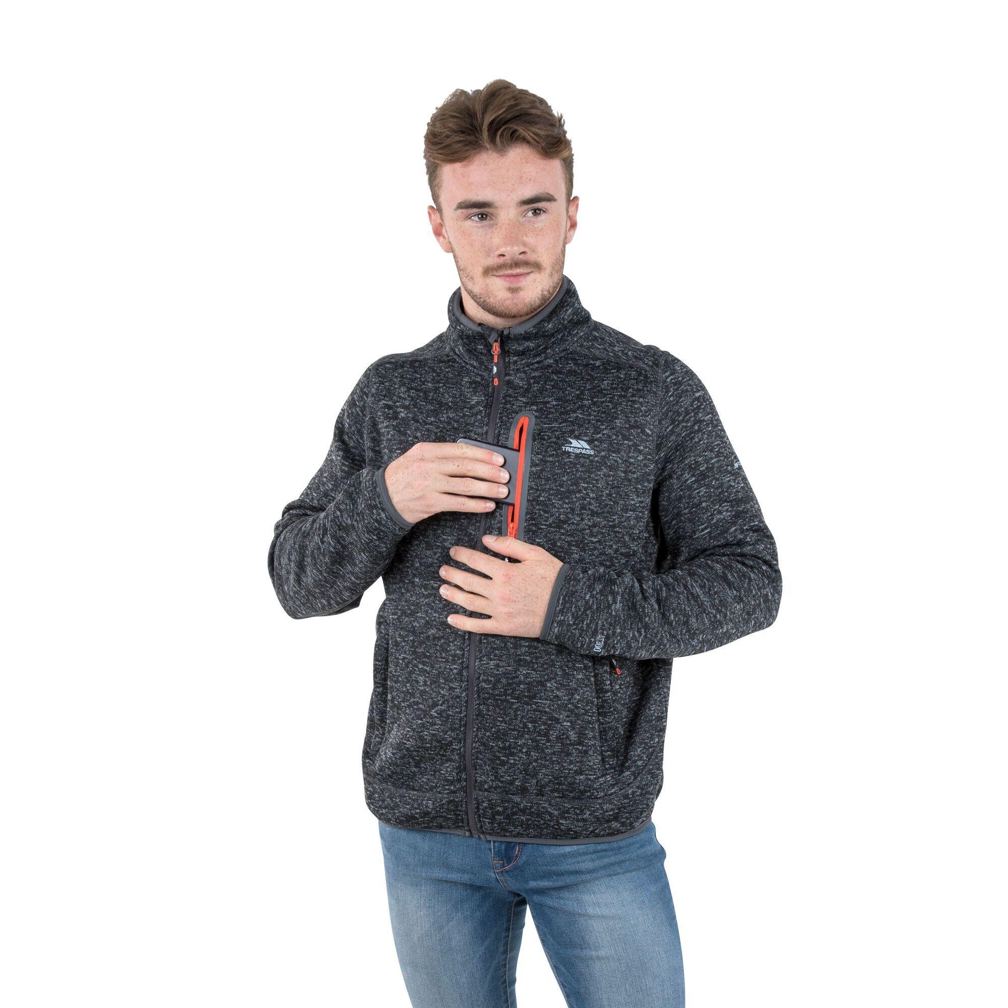 Trespass Mens Bingham Fleece Jacket (L) (Blue Marl)