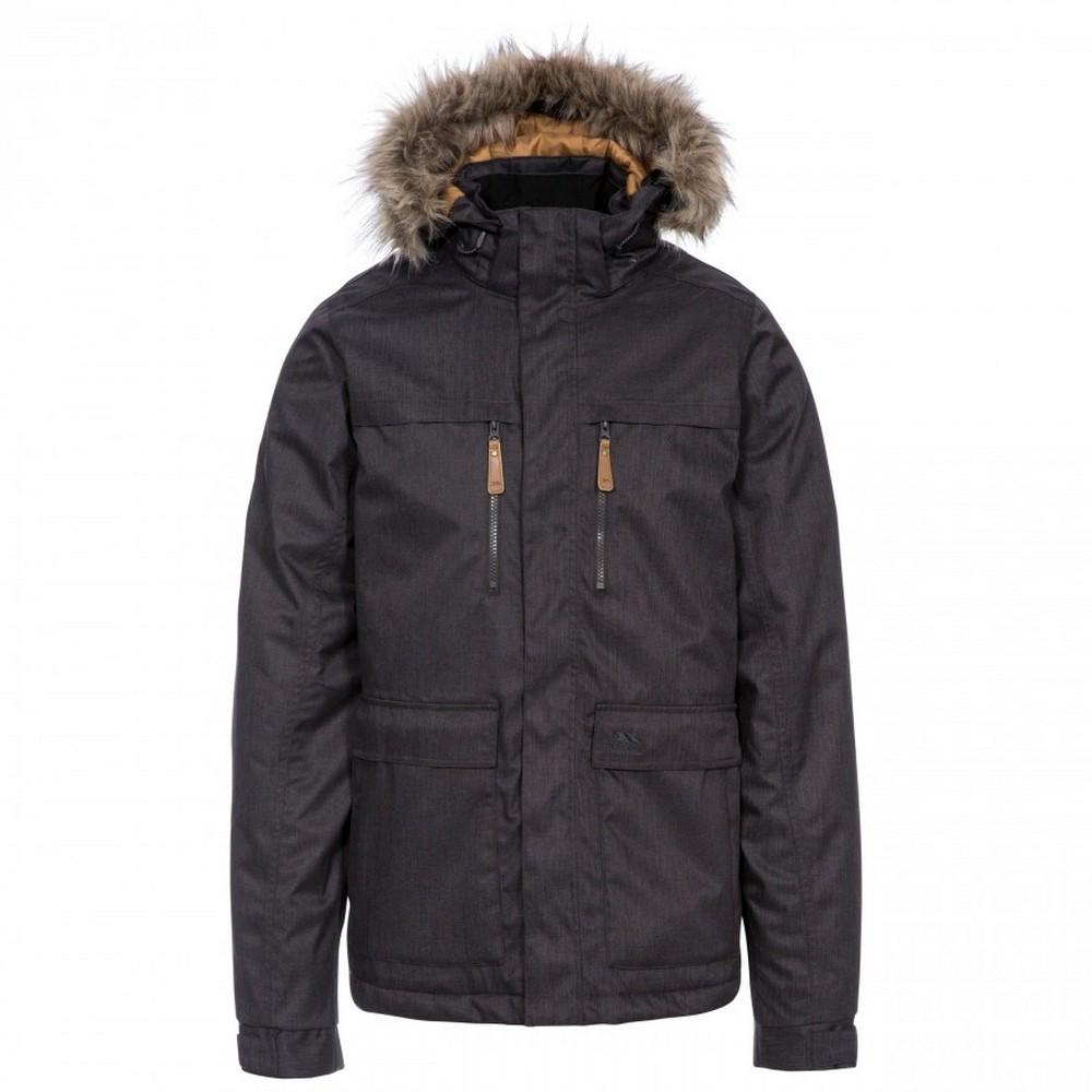 Trespass Mens King Peak Waterproof Jacket (XXL) (Dark Grey)