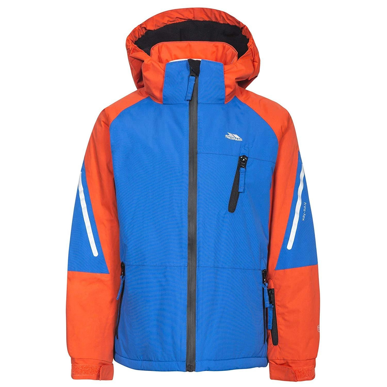 Trespass Boys Debunk Touch Fastening Ski Jacket (11-12 Years) (Blue)