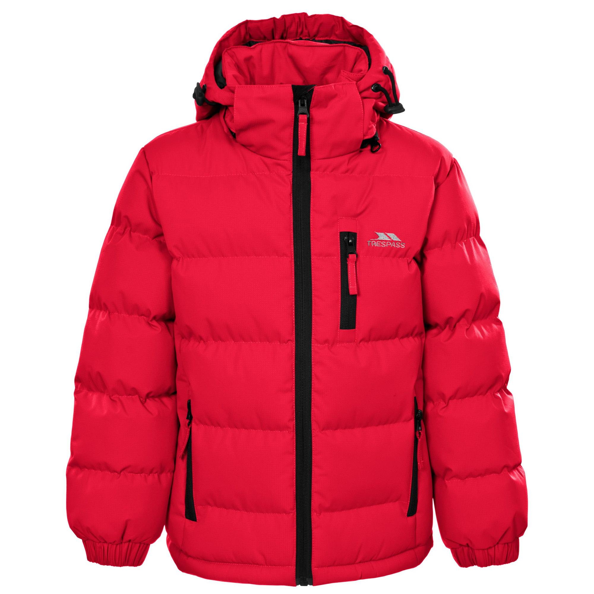 Trespass Boys Tuff Hooded Jacket (3/4) (Sandstone)