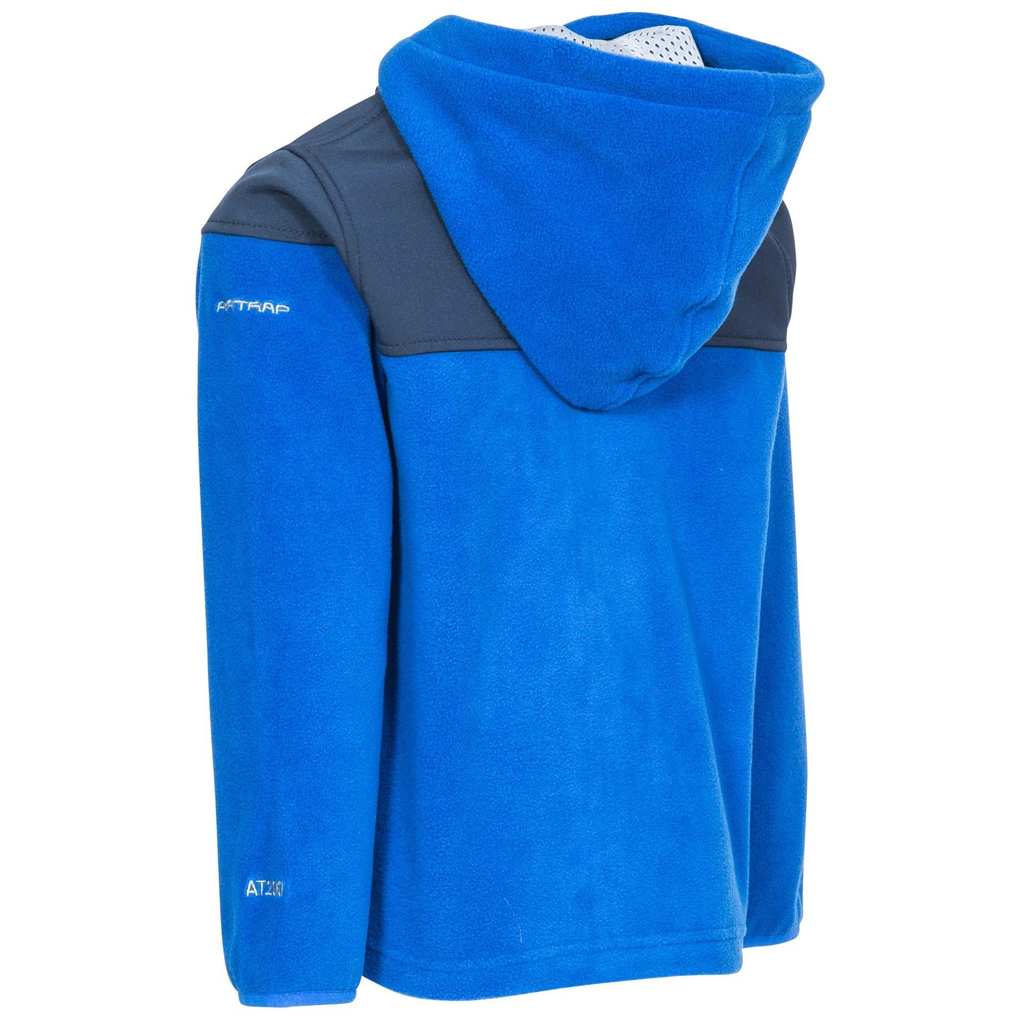 Trespass Boys Bieber Hooded Fleece Jacket (3-4 Years) (Blue)