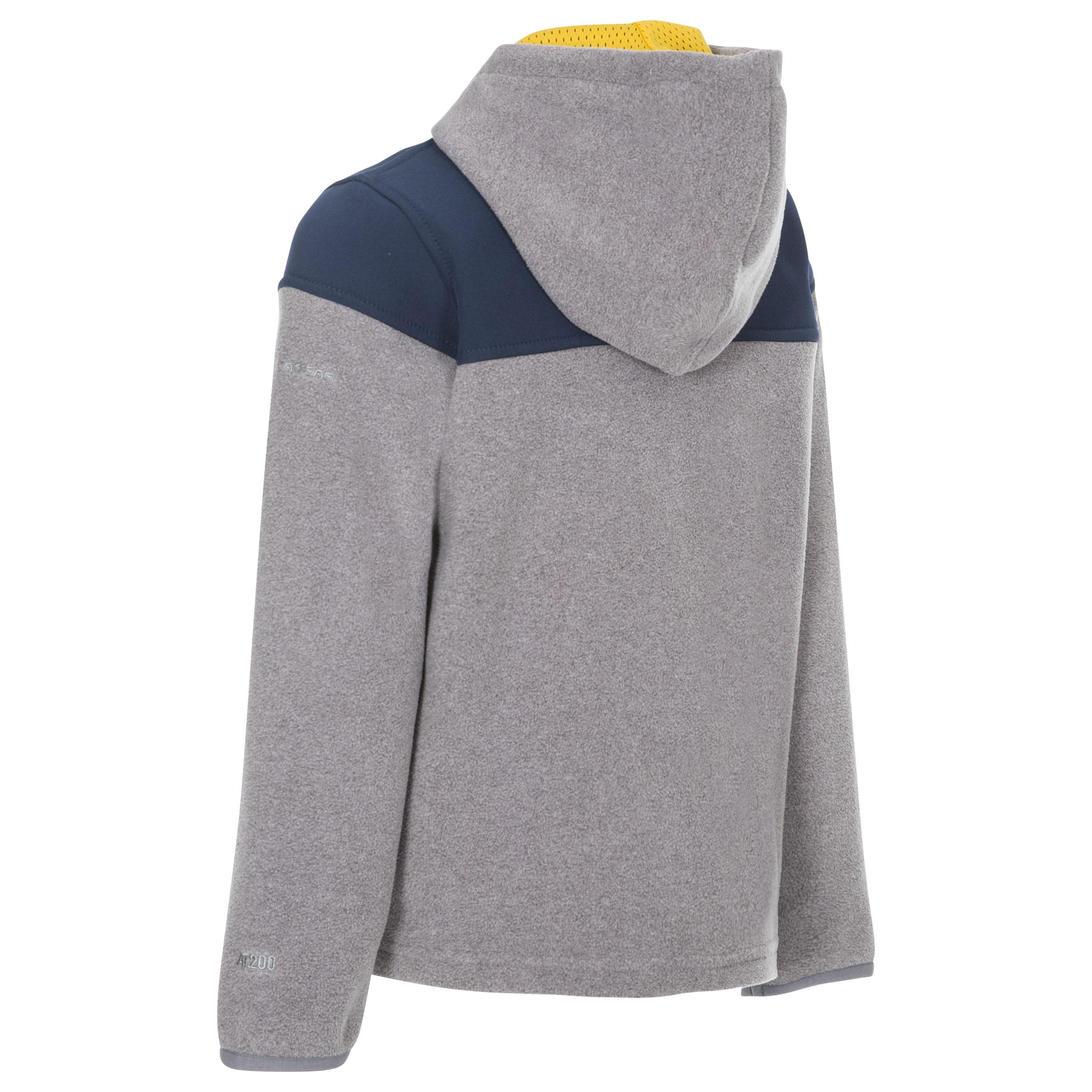Trespass Boys Bieber Hooded Fleece Jacket (7-8 Years) (Red)