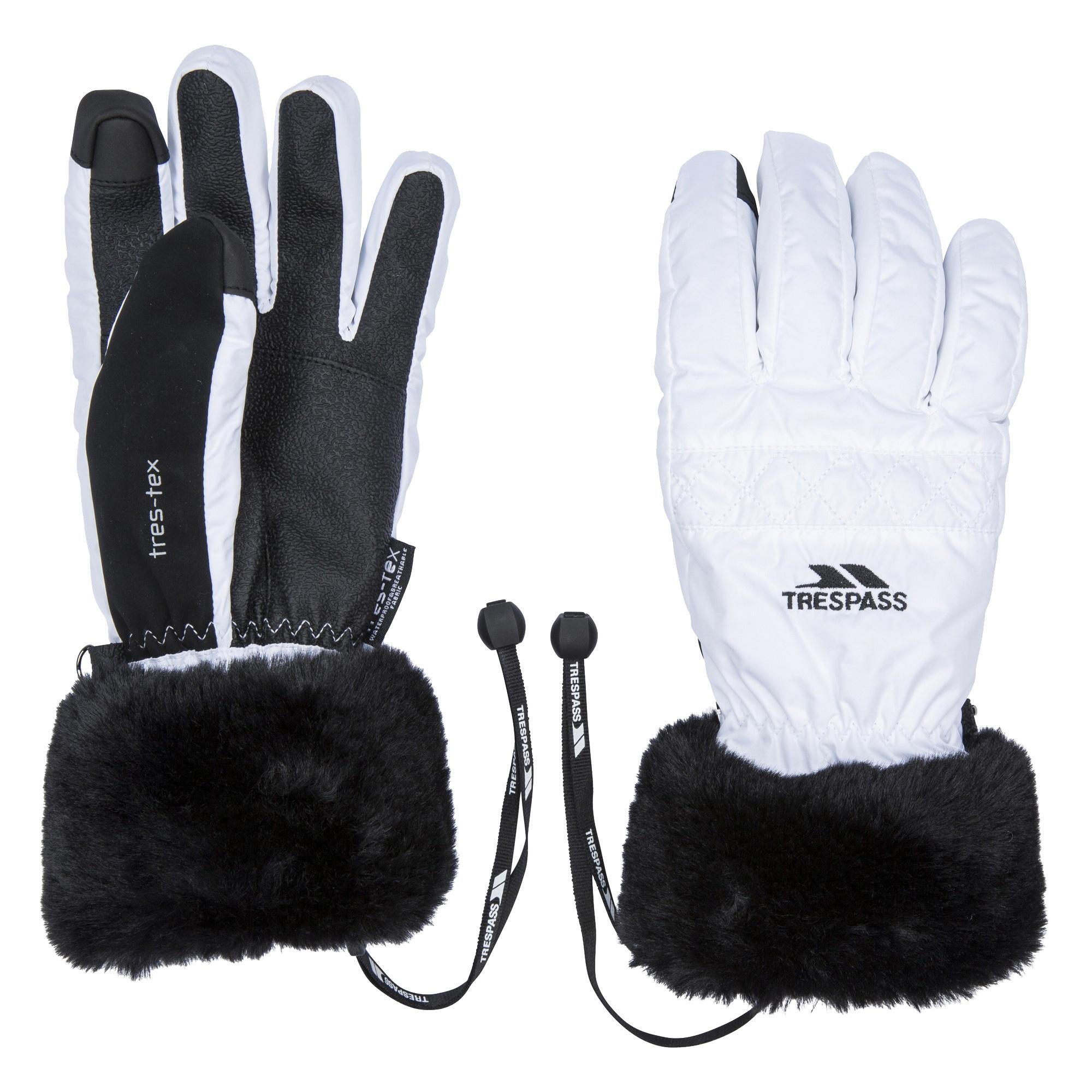 Trespass Womens/Ladies Yanki Gloves (XL) (White)