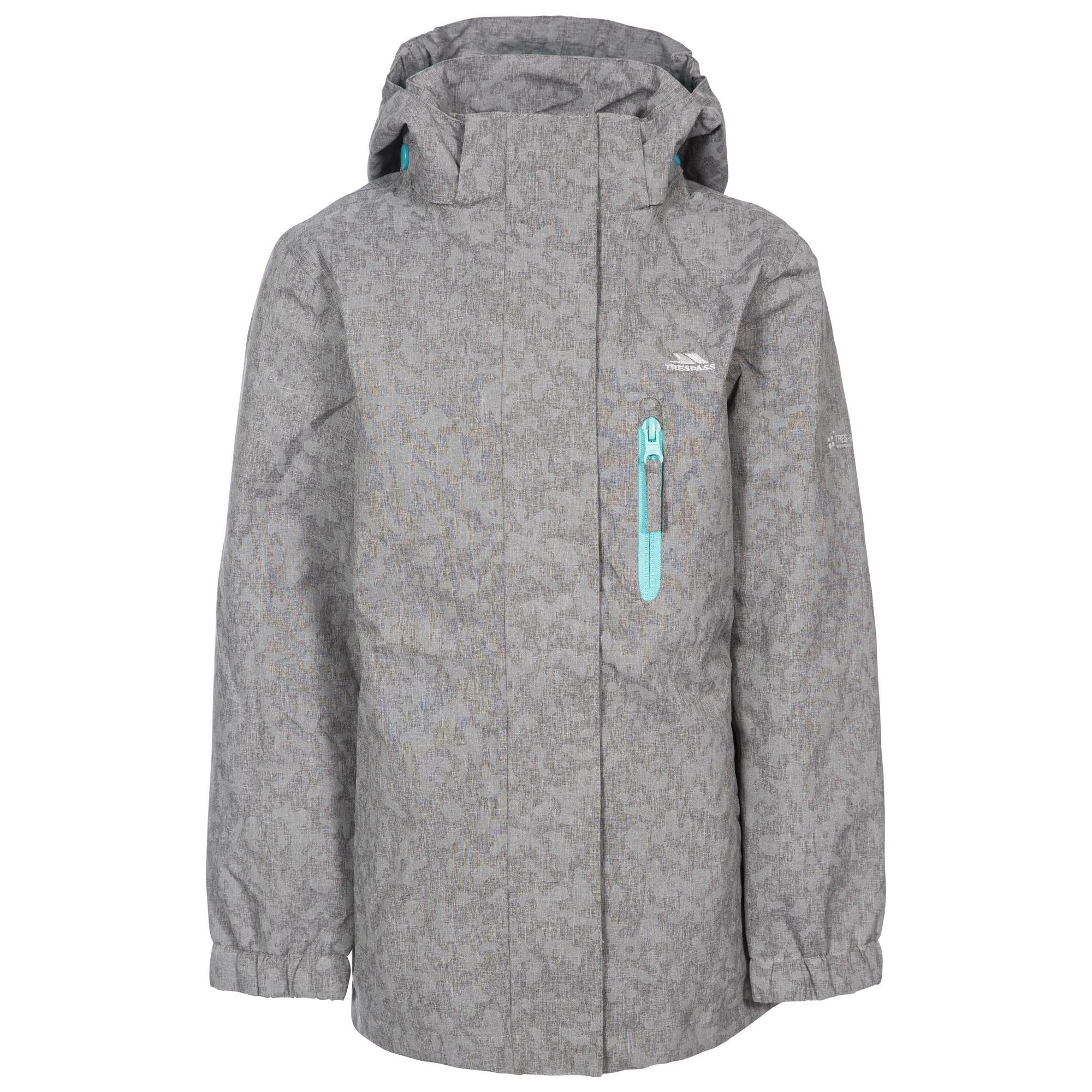Trespass Childrens Girls Zoey Waterproof Jacket (2/3 Years) (Grey)