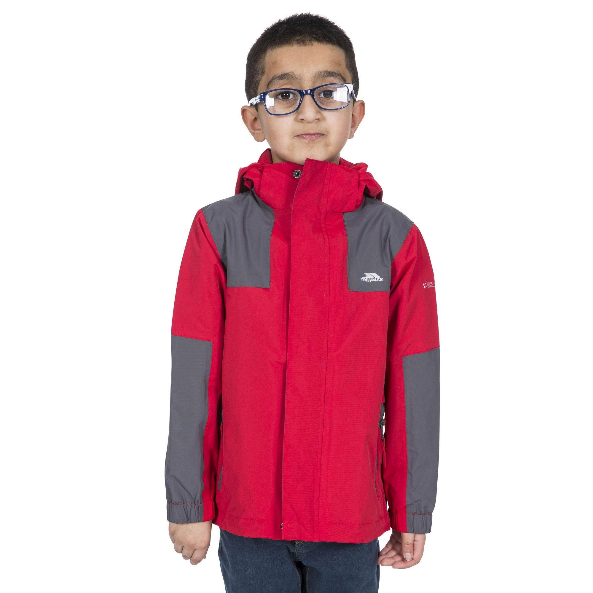 Trespass Childrens Boys Farpost Waterproof Jacket (5/6 Years) (Red)