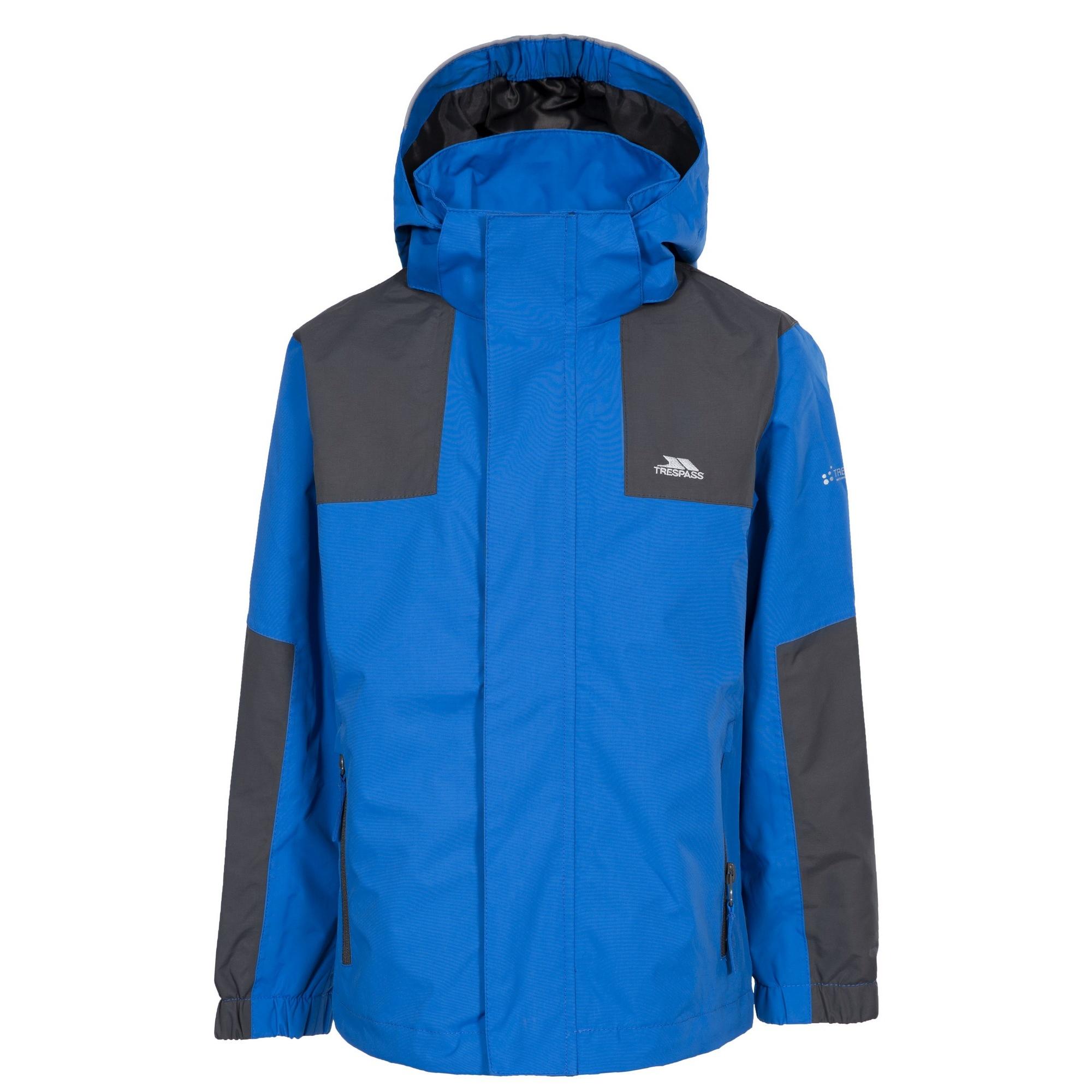 Trespass Childrens Boys Farpost Waterproof Jacket (5/6 Years) (Blue)